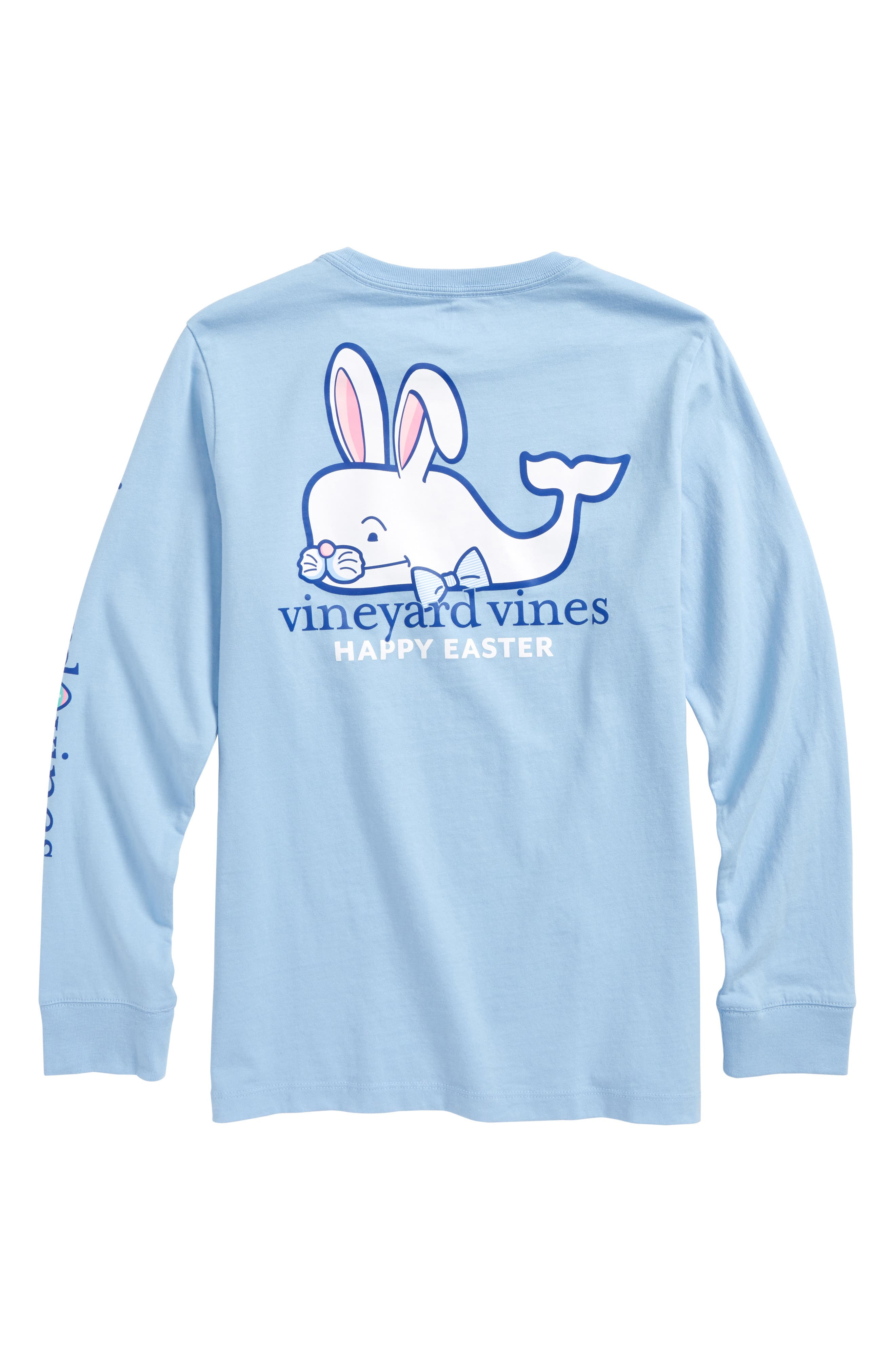 Easter Bunny Whale Pocket T-Shirt,                             Alternate thumbnail 2, color,                             Jake Blue