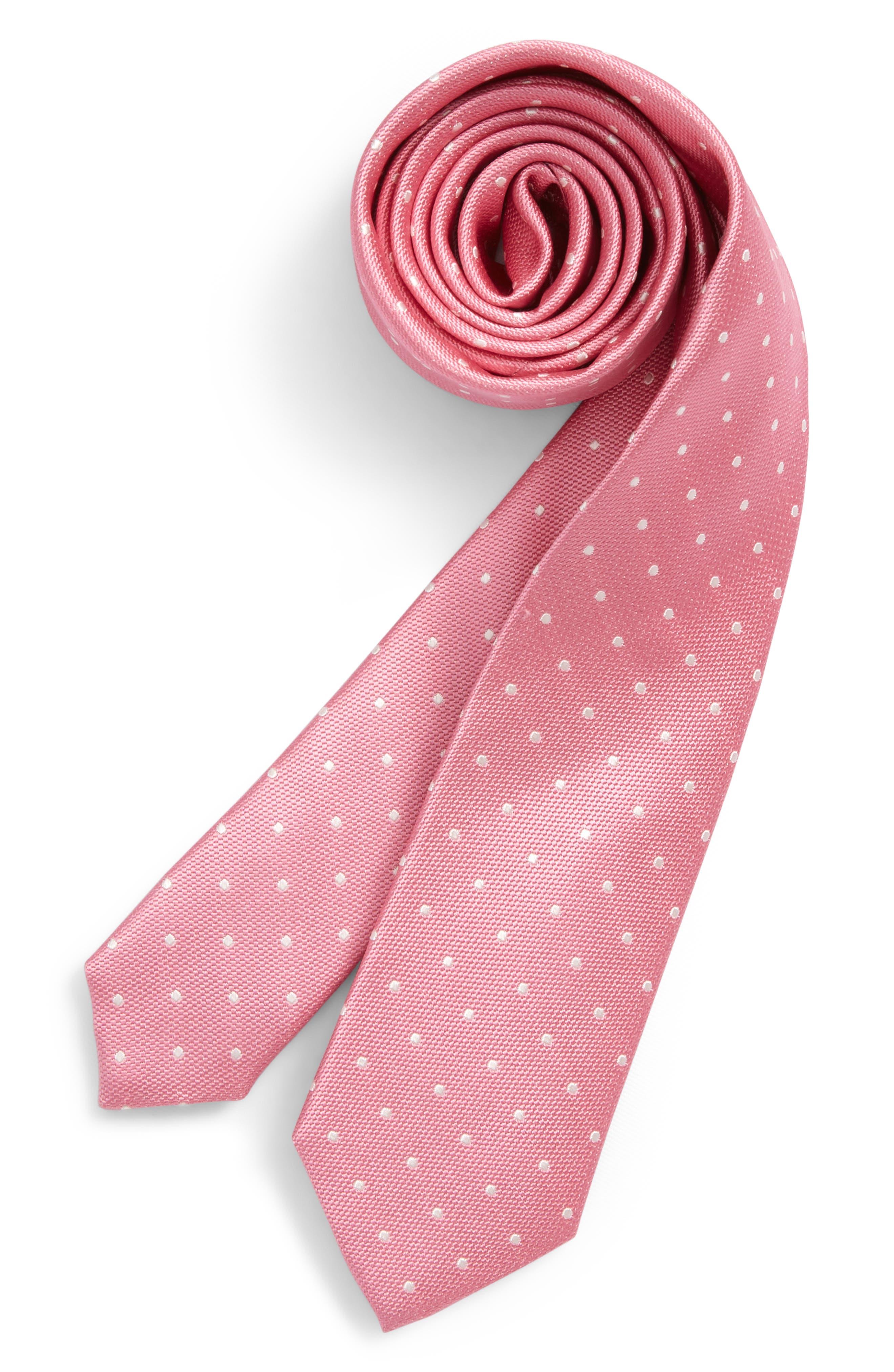 Nordstrom Dainty Dot Silk Tie (Big Boys)