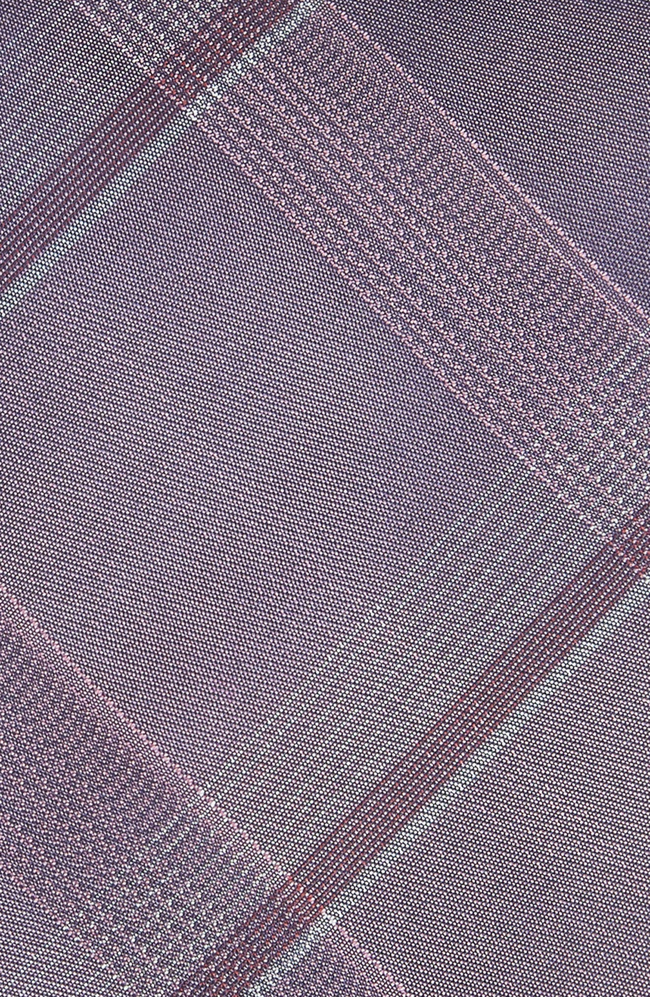 Plaid Silk Tie,                             Alternate thumbnail 2, color,                             Purple