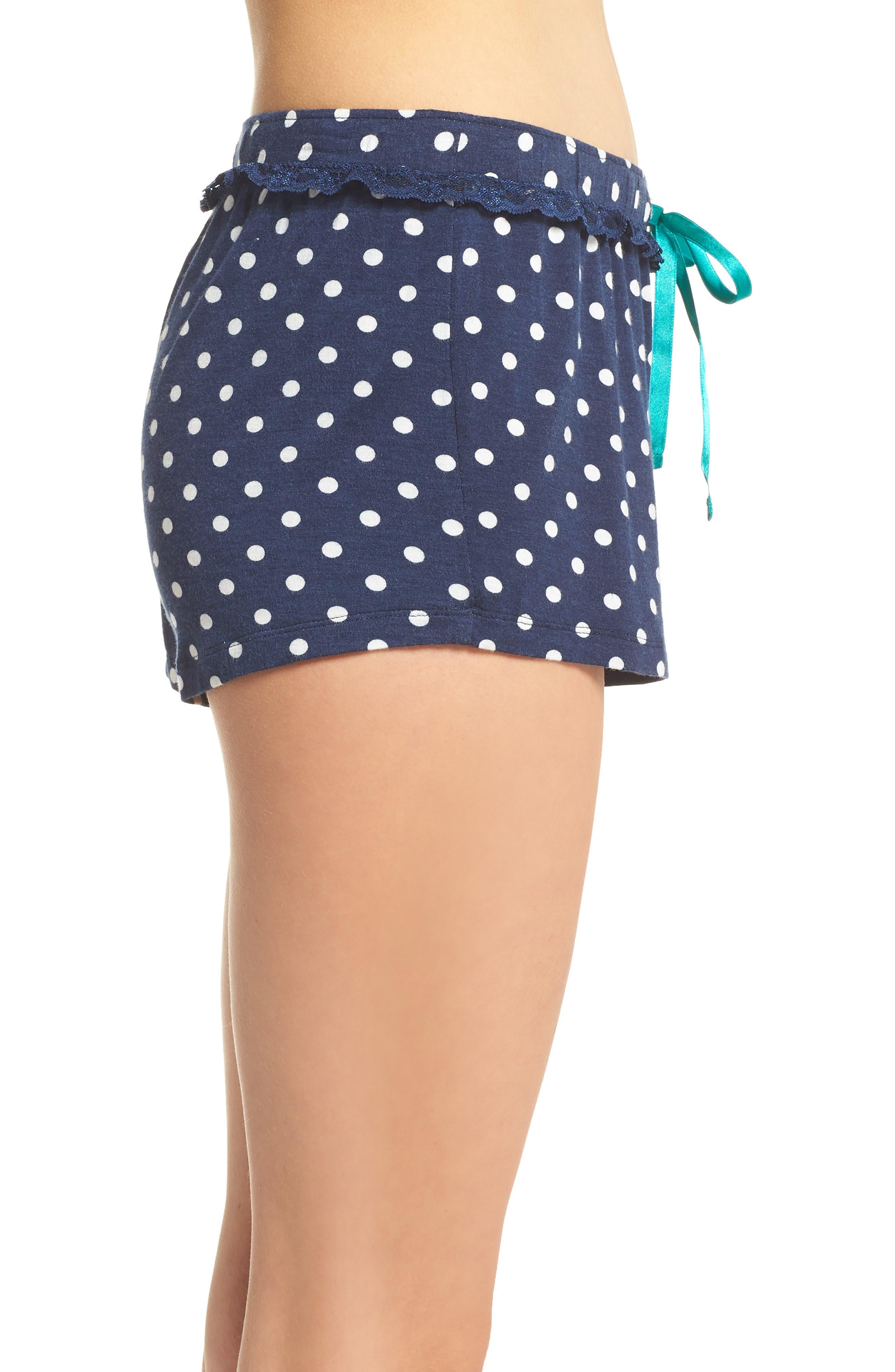 Pajama Shorts,                             Alternate thumbnail 3, color,                             Navy