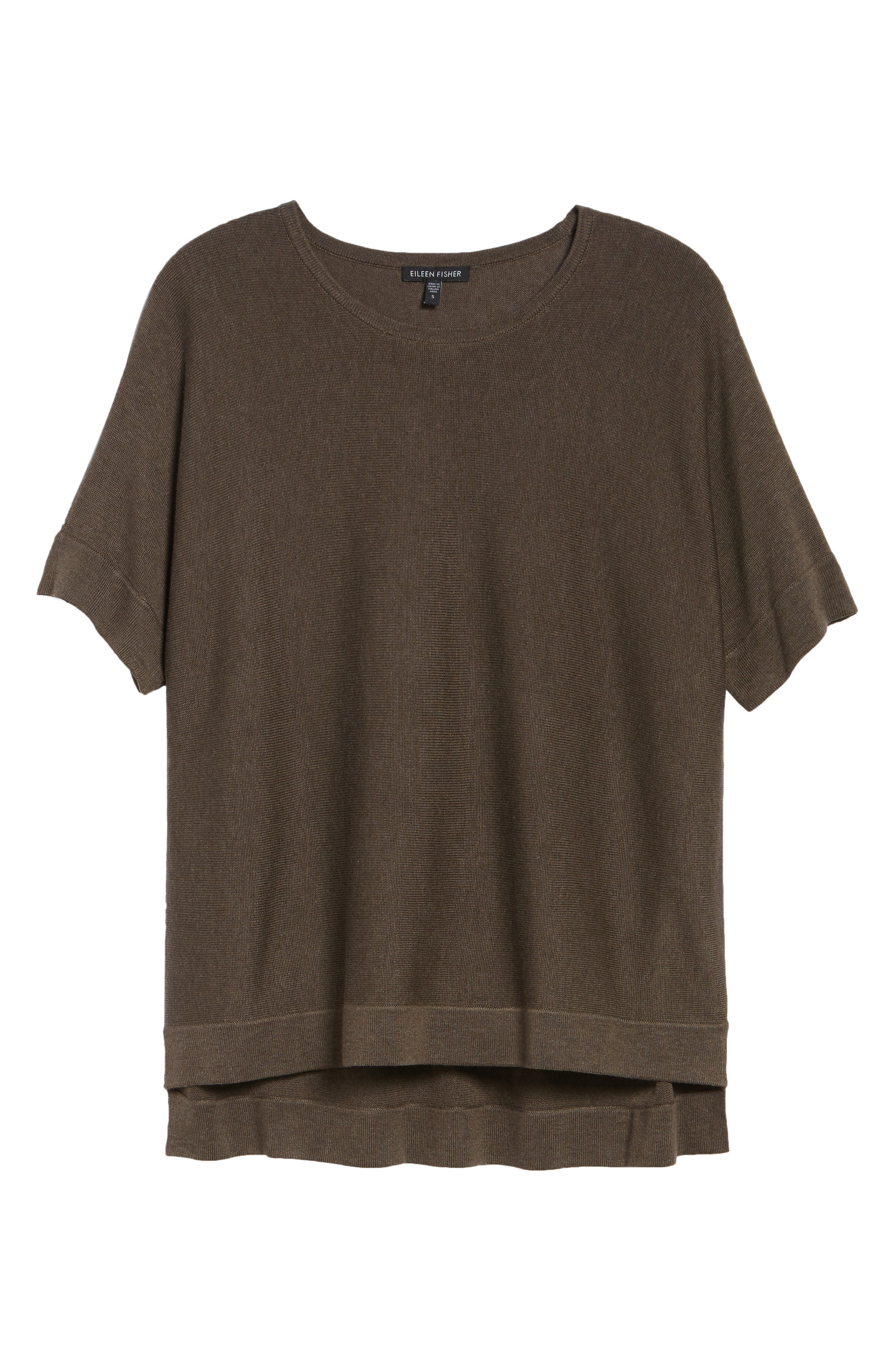 Round Neck Top,                             Alternate thumbnail 7, color,                             Rye