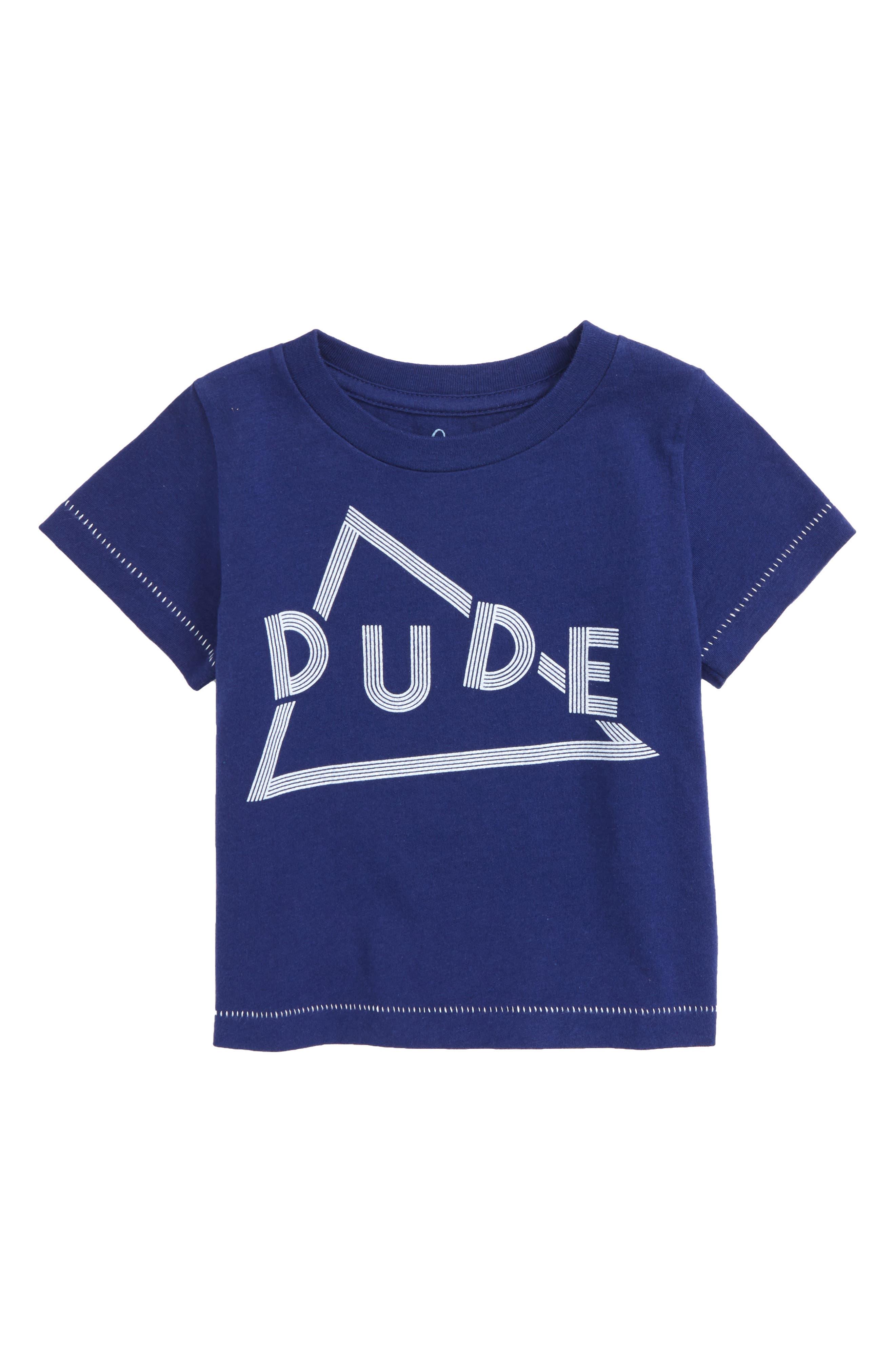 Dude Graphic T-Shirt,                             Main thumbnail 1, color,                             Navy