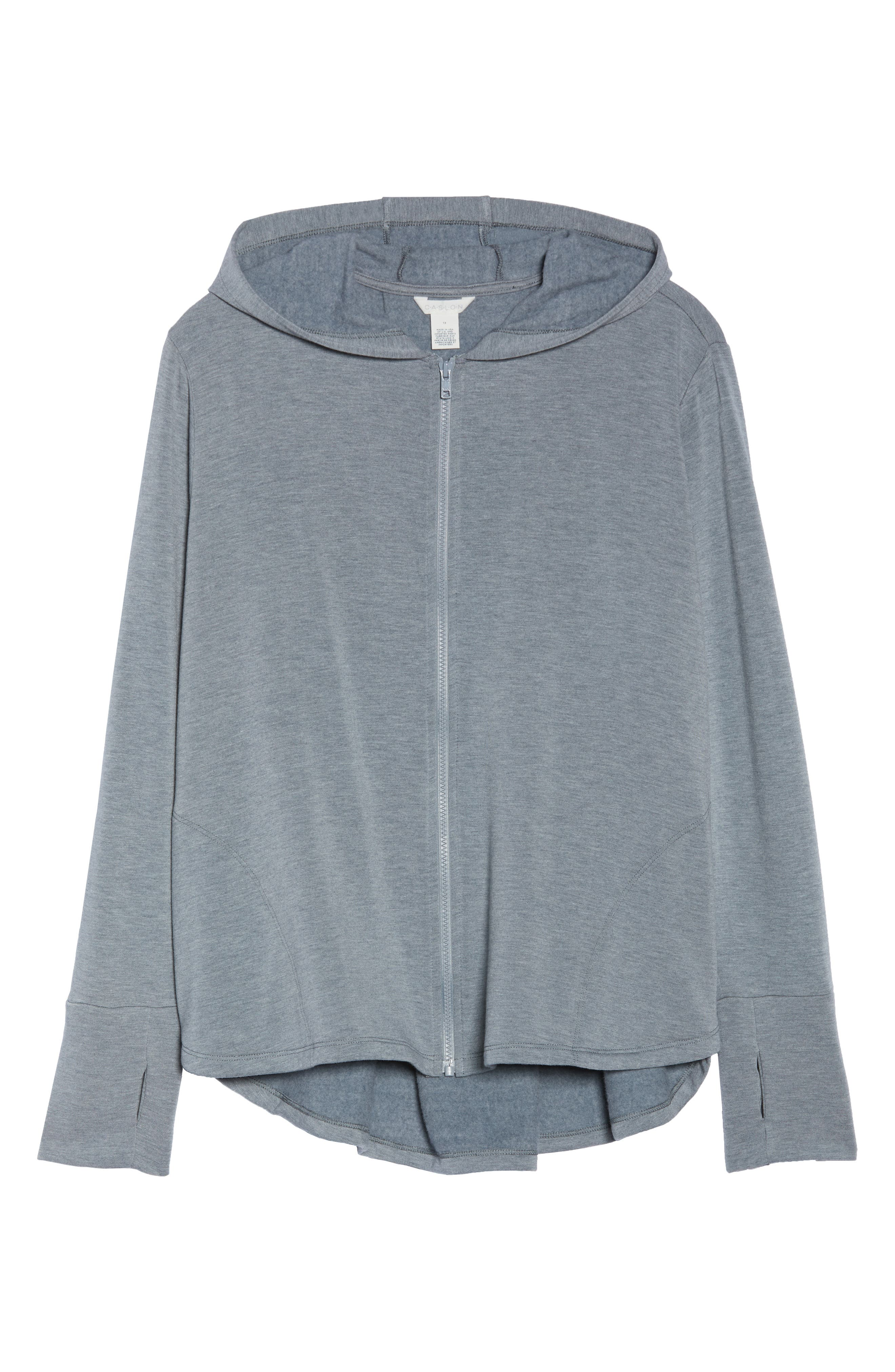 Off-Duty Zip Front Hooded Jacket,                             Alternate thumbnail 7, color,                             Grey