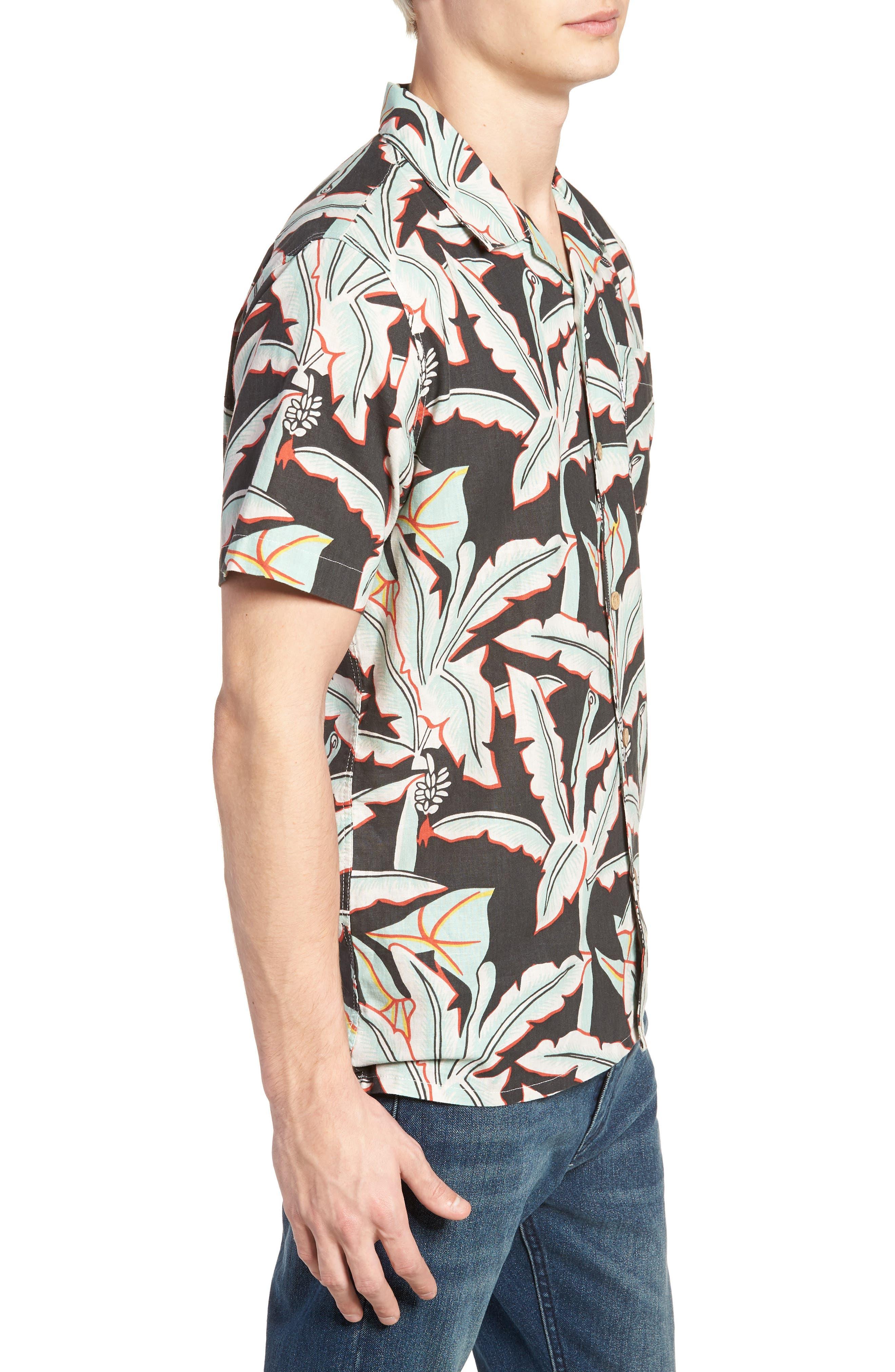 Hawaiian Woven Shirt,                             Alternate thumbnail 3, color,                             Holtville Ming Green