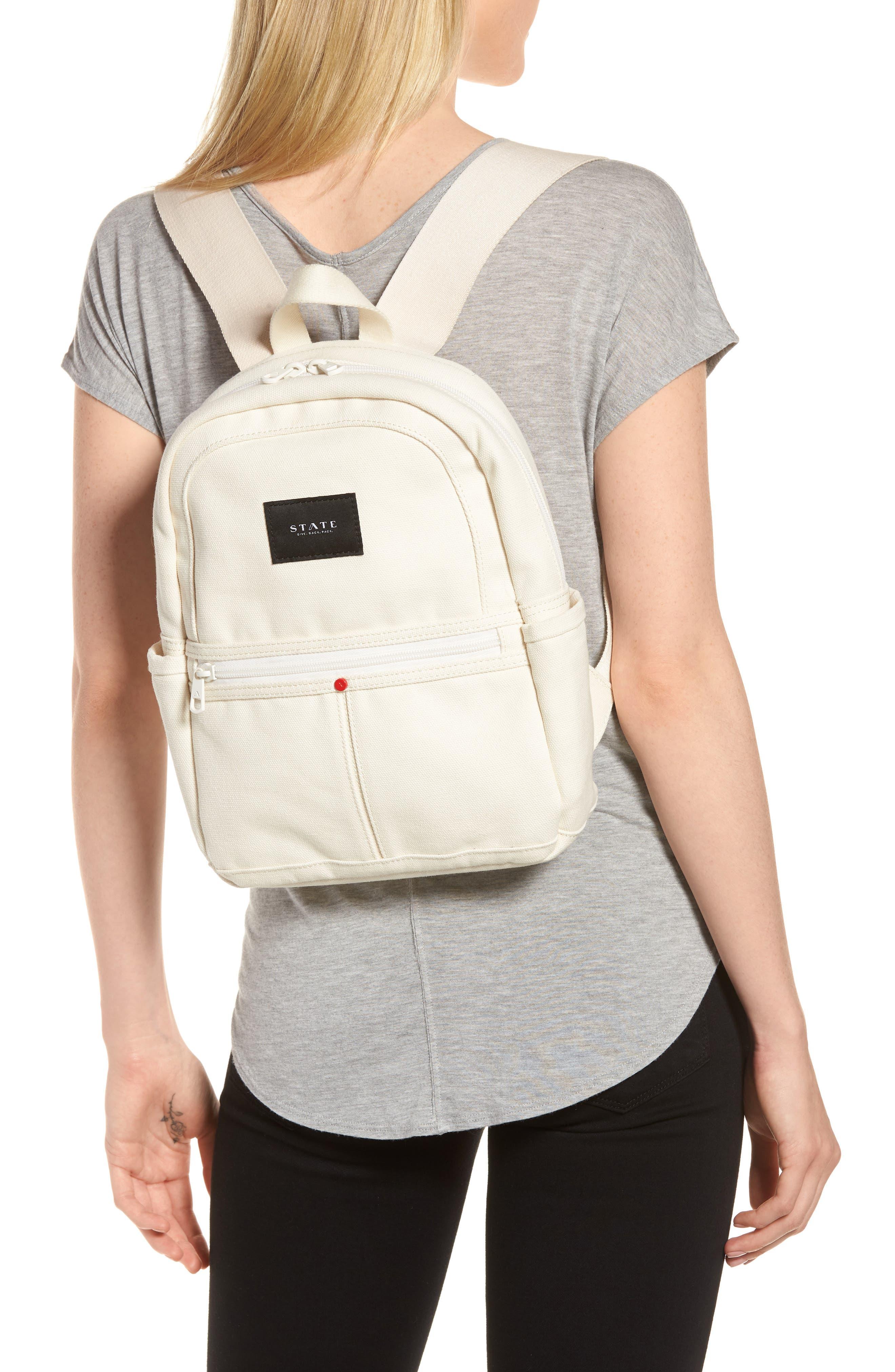 Kensington Mini Kane Canvas Backpack,                             Alternate thumbnail 2, color,                             Natural