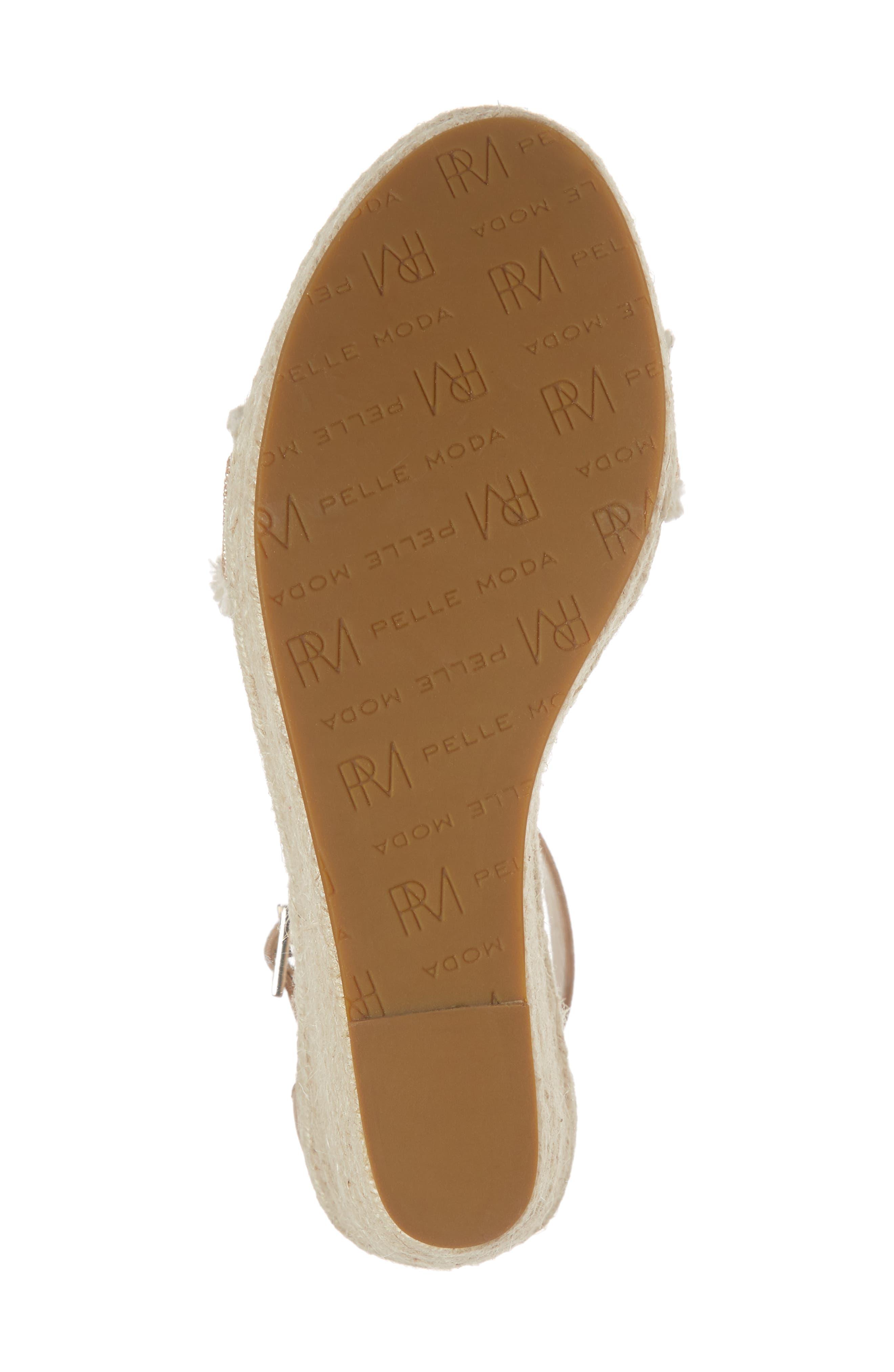 Radley Espadrille Wedge Sandal,                             Alternate thumbnail 6, color,                             Sand Leather