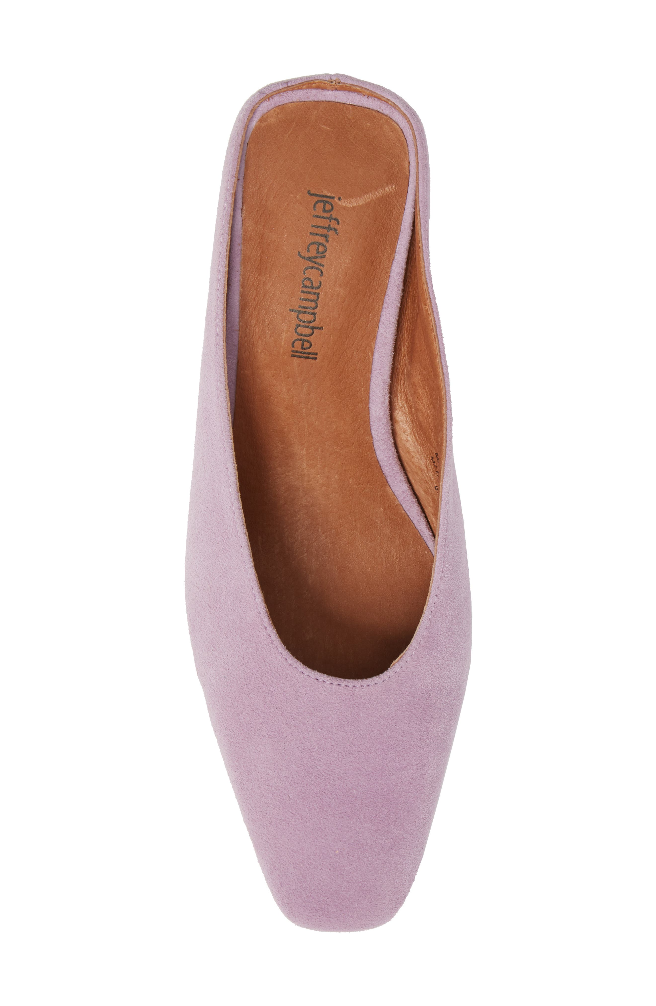 Cryptic Statement Heel Mule,                             Alternate thumbnail 5, color,                             Lilac Suede