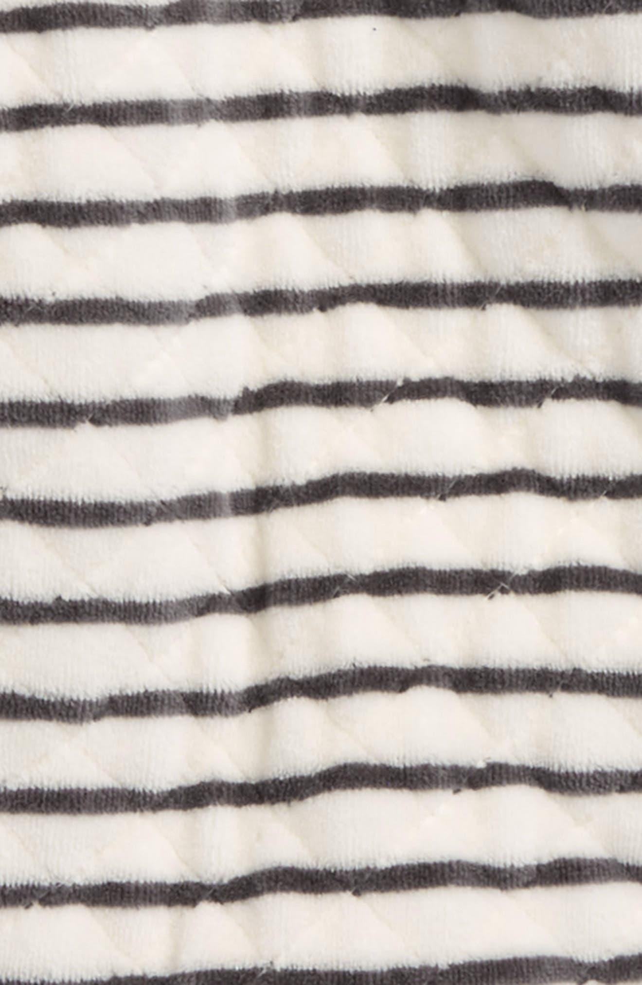 Hooded Bunting,                             Alternate thumbnail 2, color,                             Ivory Egret- Grey Stripe
