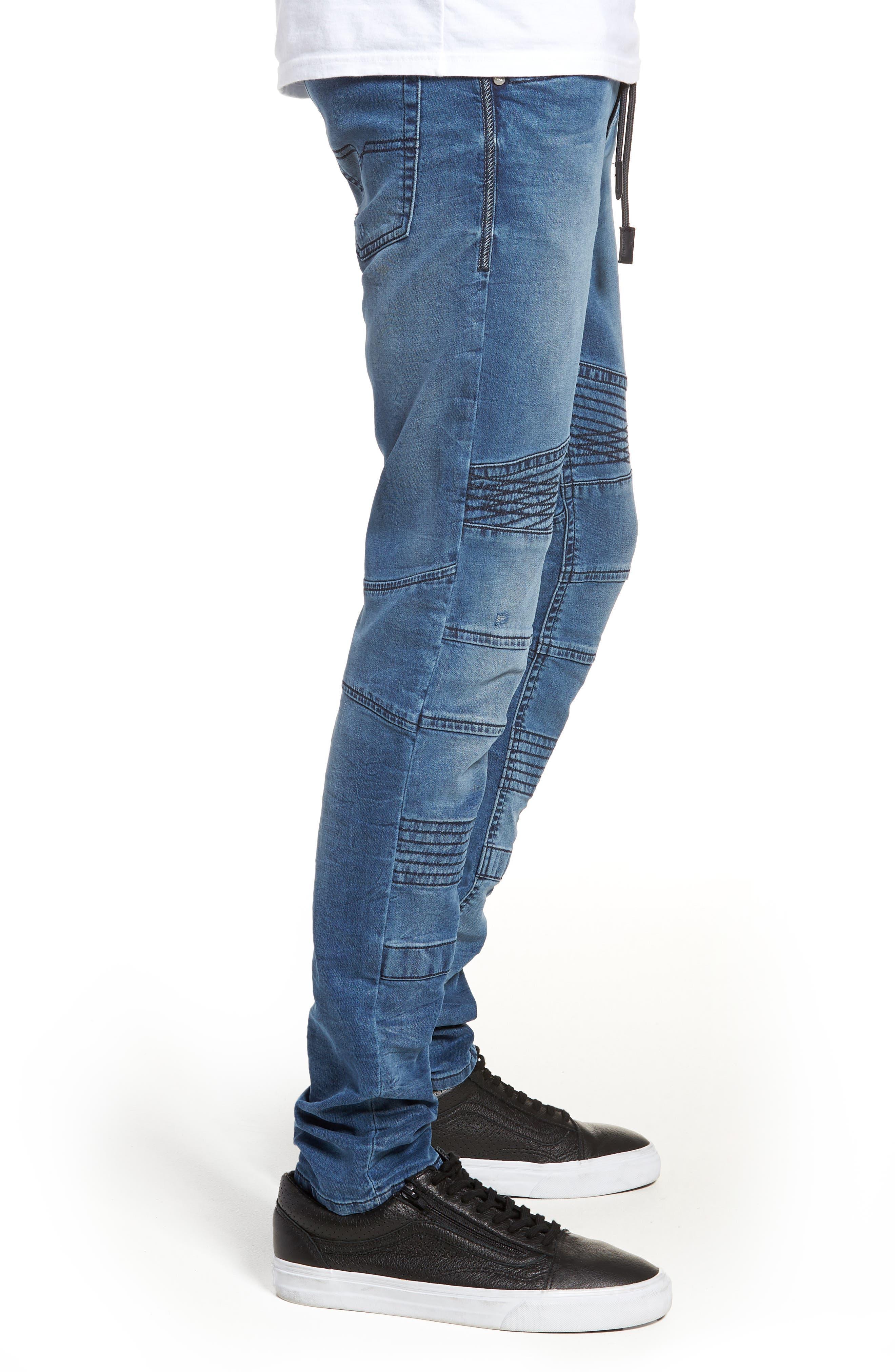 Bakari Skinny Fit Jeans,                             Alternate thumbnail 3, color,                             0688Y