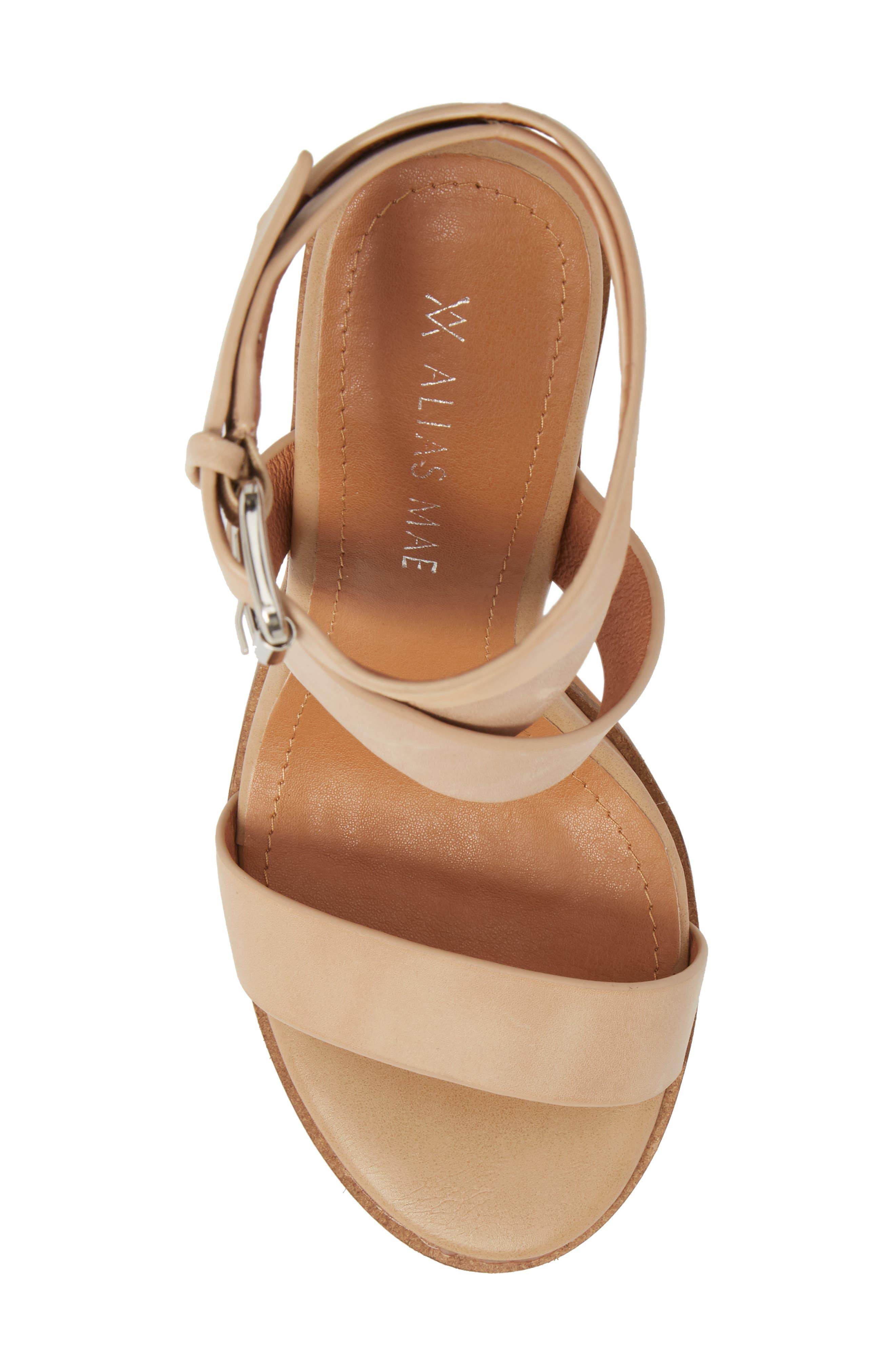 Abaala Cross Strap Sandal,                             Alternate thumbnail 5, color,                             Natural Leather
