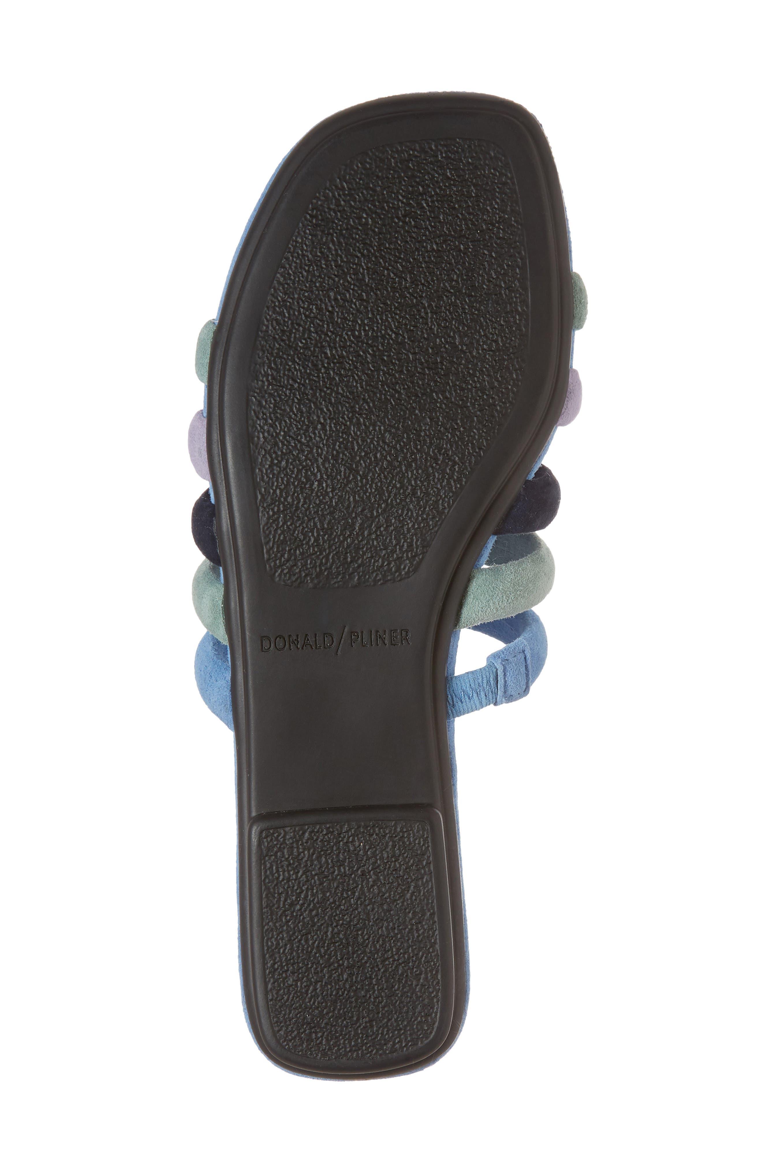Kip Slide Sandal,                             Alternate thumbnail 6, color,                             Sage/ Blue Leather