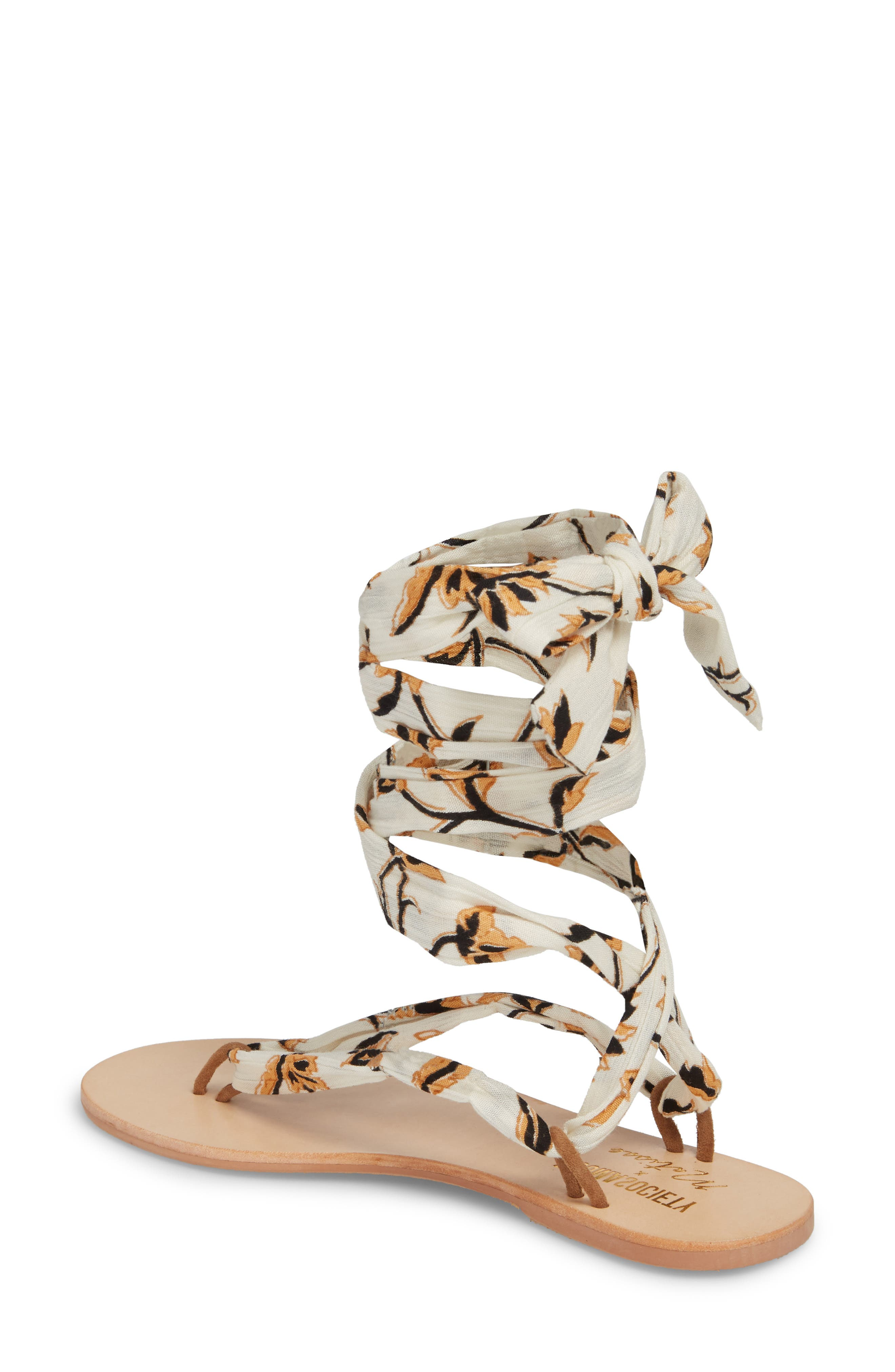 Amuse Society x Matisse Oceano Lace-Up Sandal,                             Alternate thumbnail 2, color,                             Natural Fabric