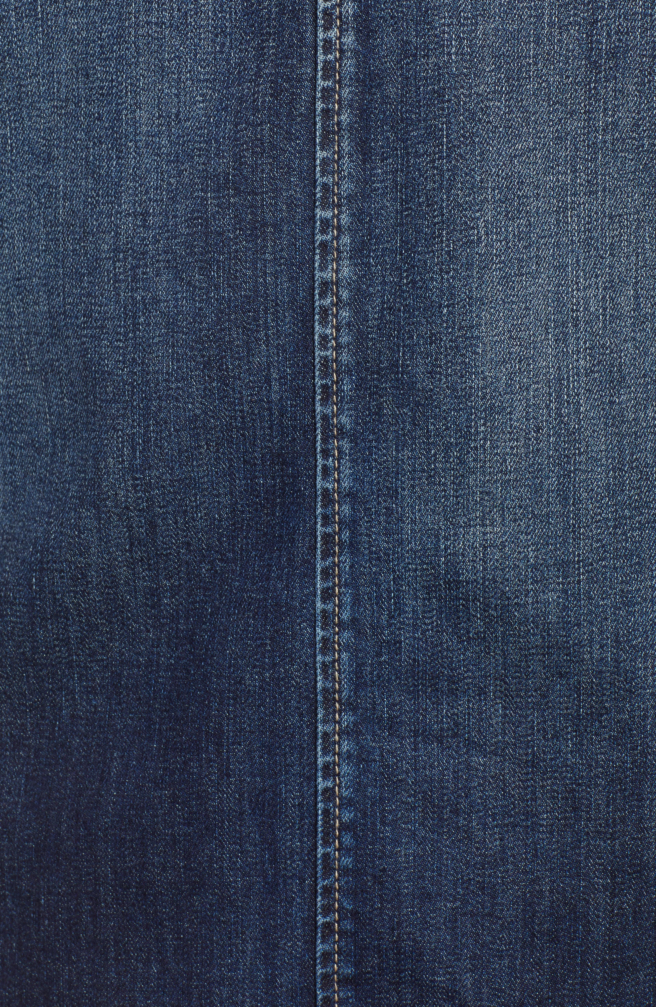 The Frayed Edge Denim Shift Dress,                             Alternate thumbnail 5, color,                             Belloc