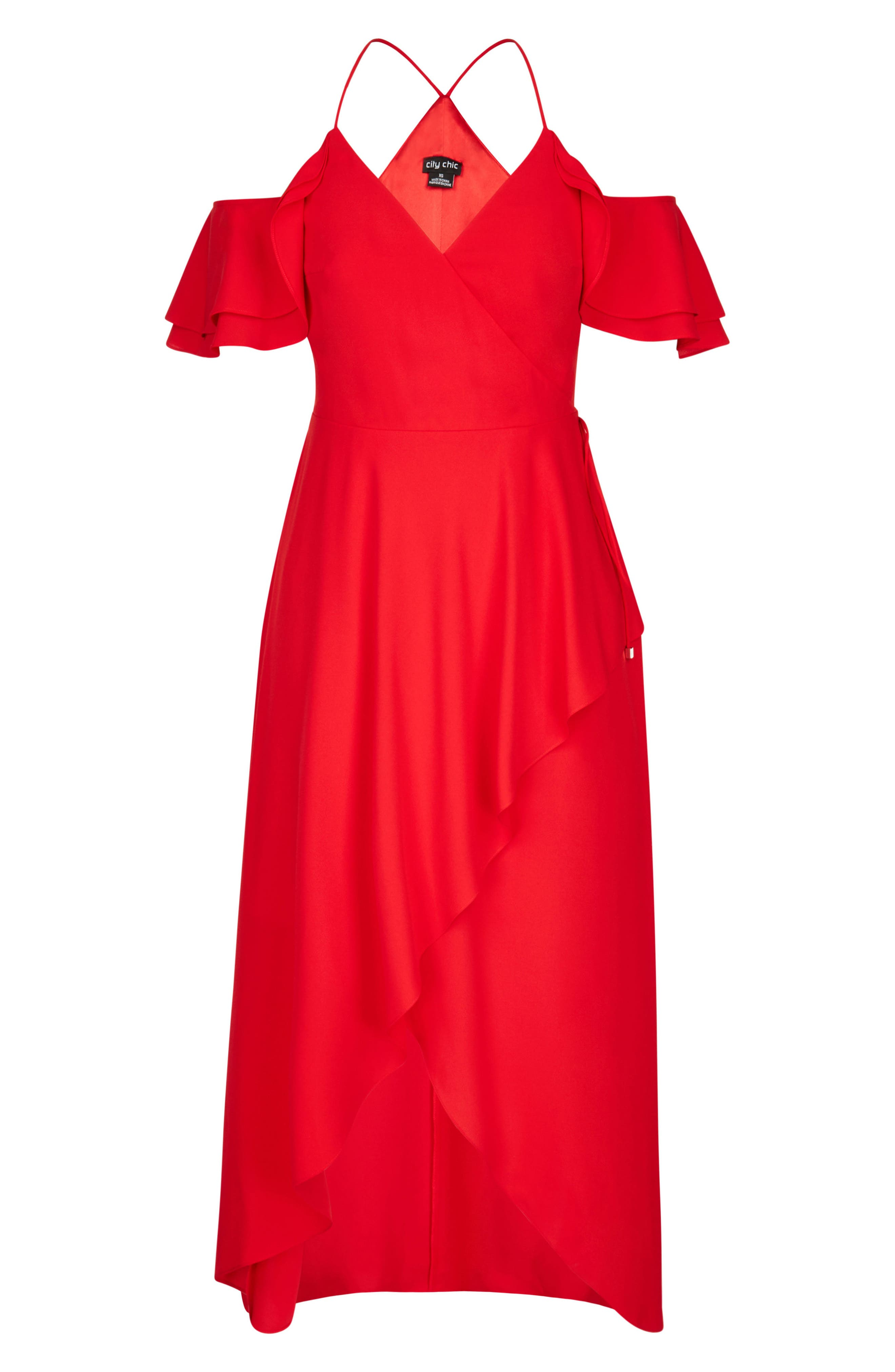 Miss Jessica Maxi Dress,                             Alternate thumbnail 3, color,                             Scarlet