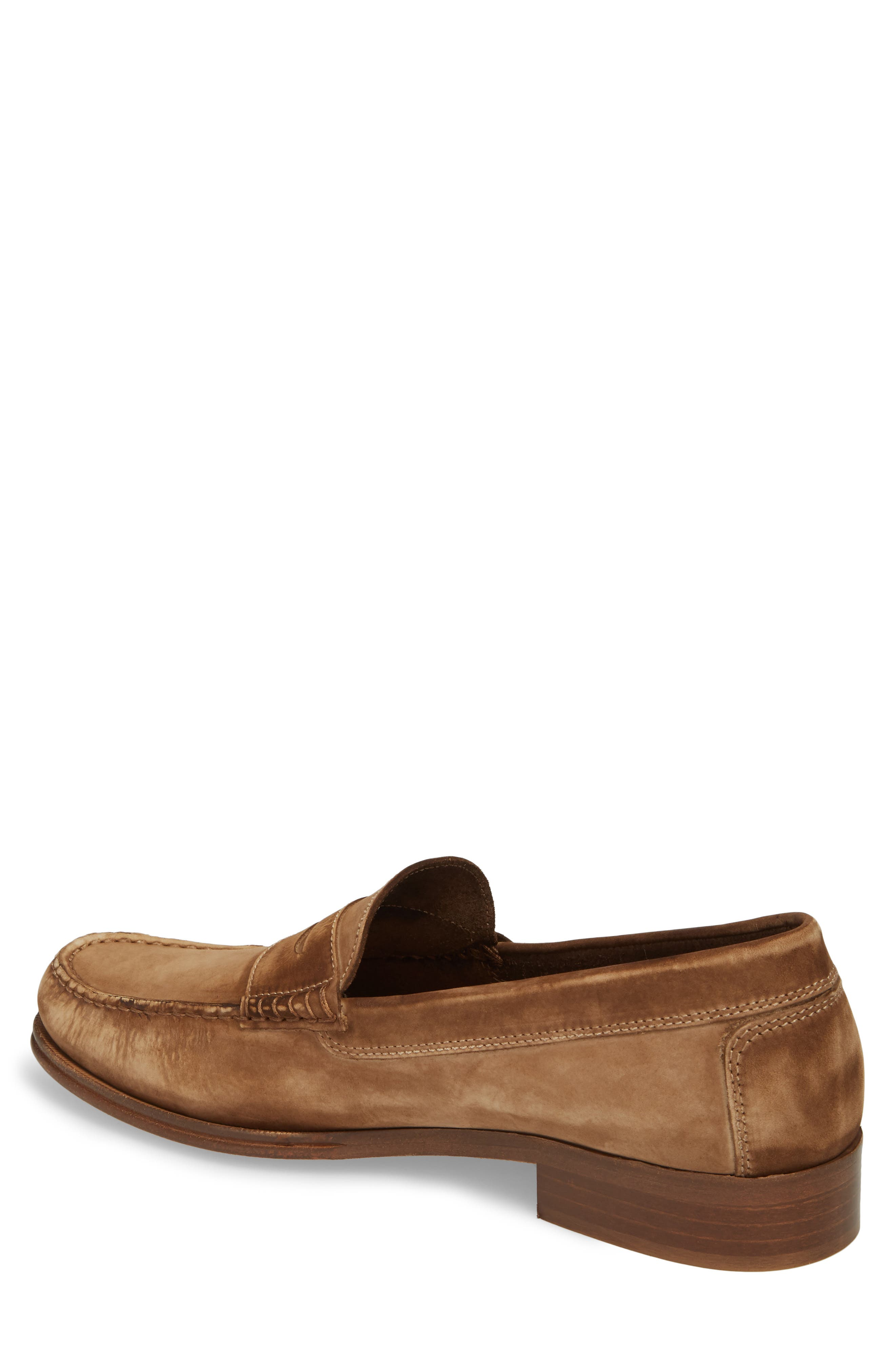 Nicola Penny Loafer,                             Alternate thumbnail 2, color,                             Chocolate Nubuck Leather