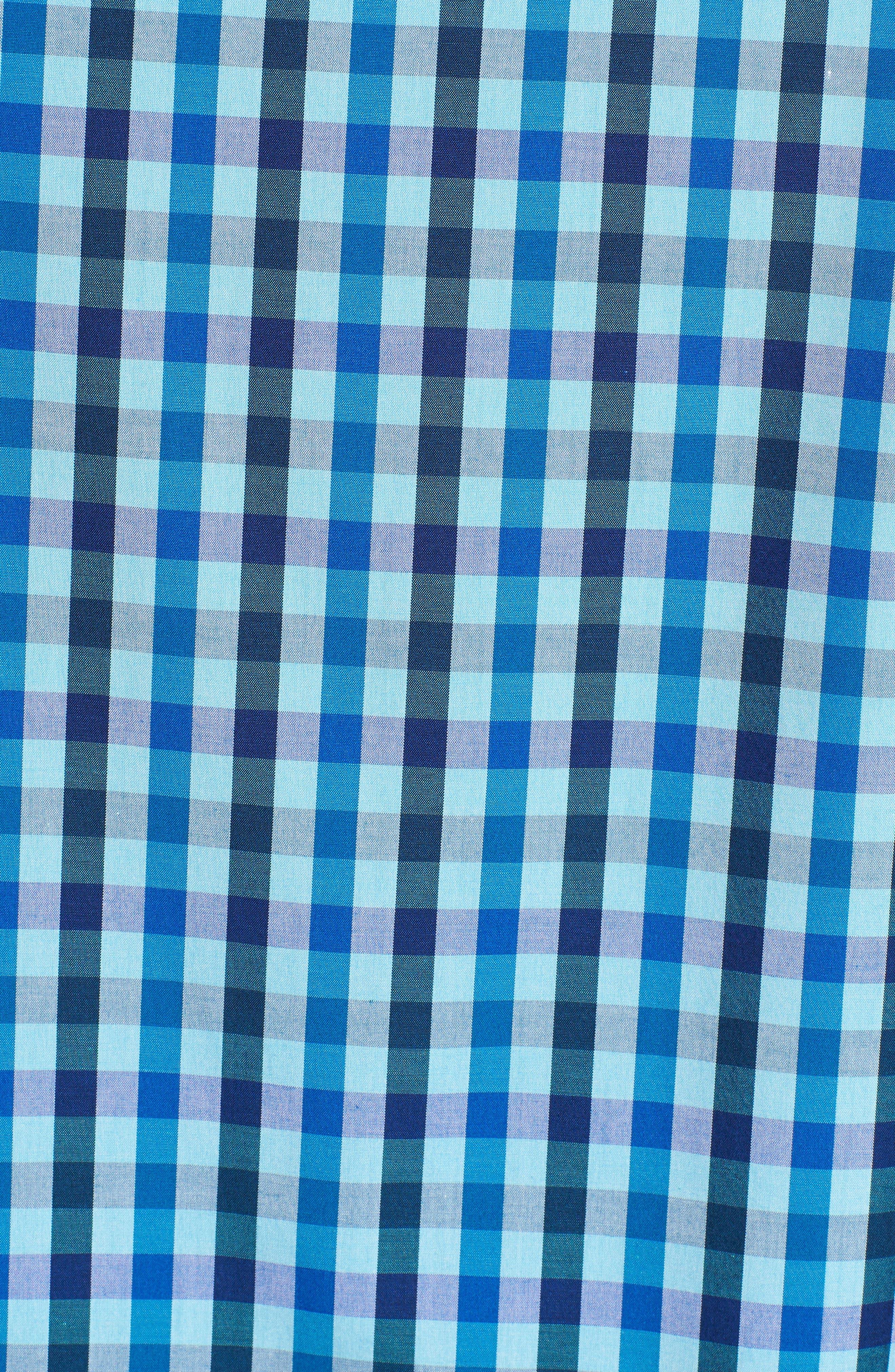Classic Fit Woven Sport Shirt,                             Alternate thumbnail 5, color,                             Turquoise