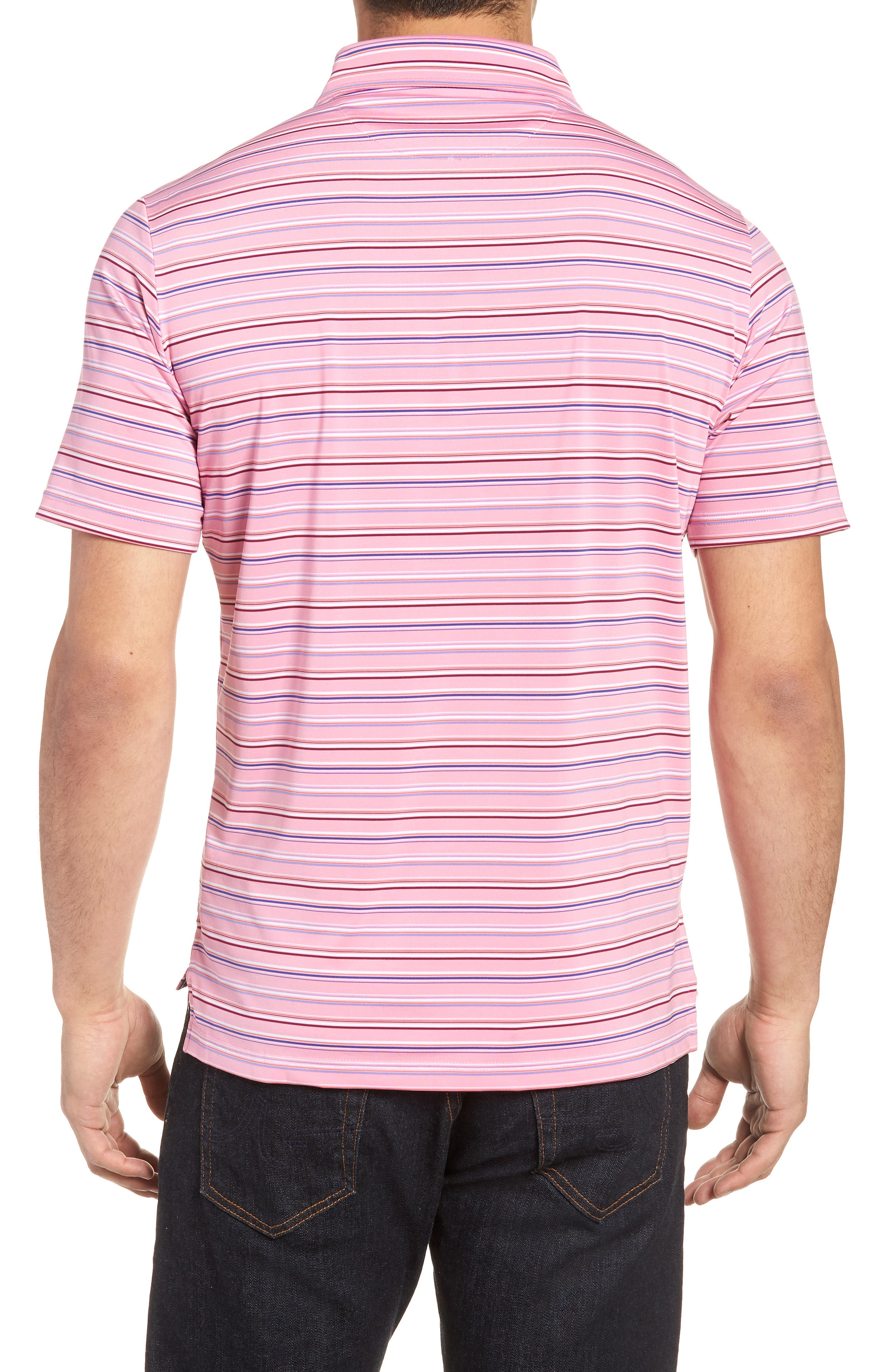 Knit Polo,                             Alternate thumbnail 2, color,                             Pink