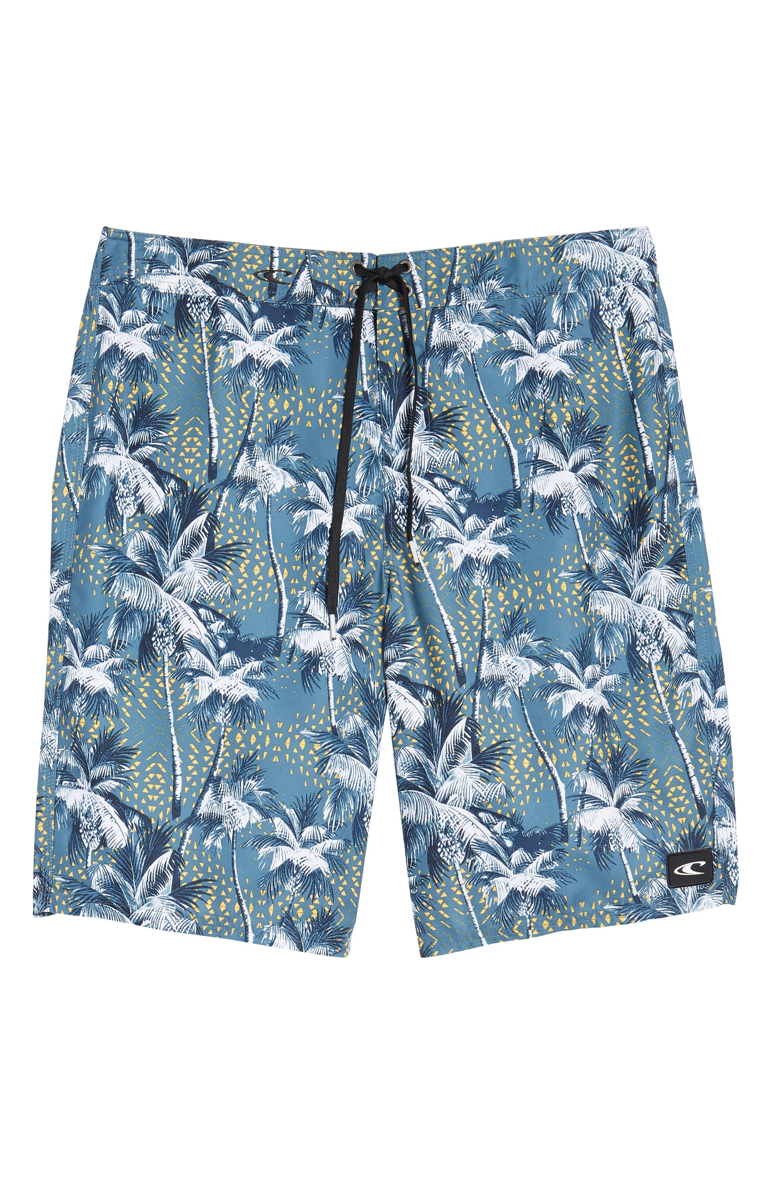Darn Old Palmer Board Shorts,                             Alternate thumbnail 6, color,                             Dust Blue