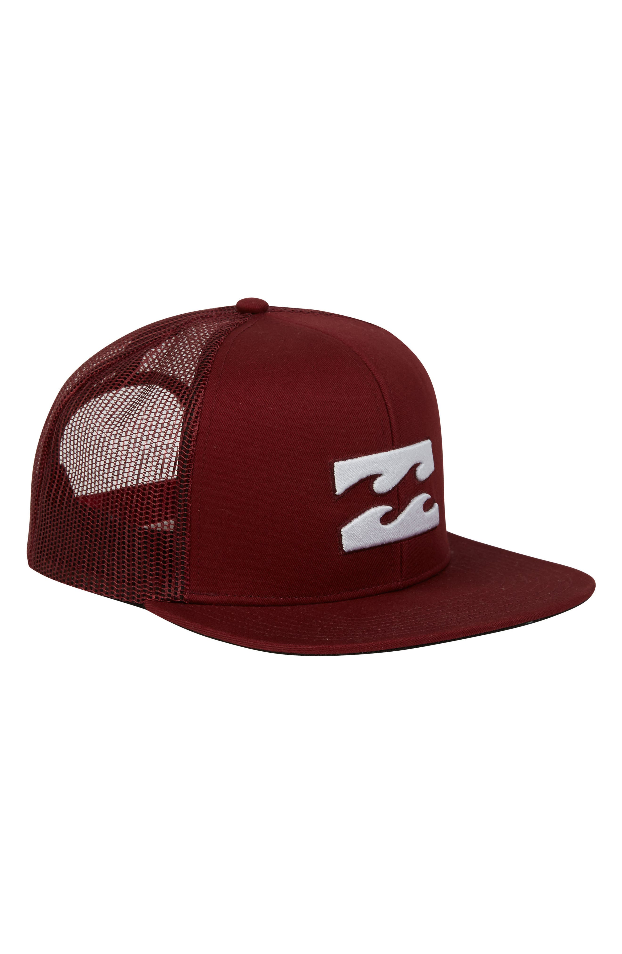 All Day Trucker Hat,                         Main,                         color, Brick