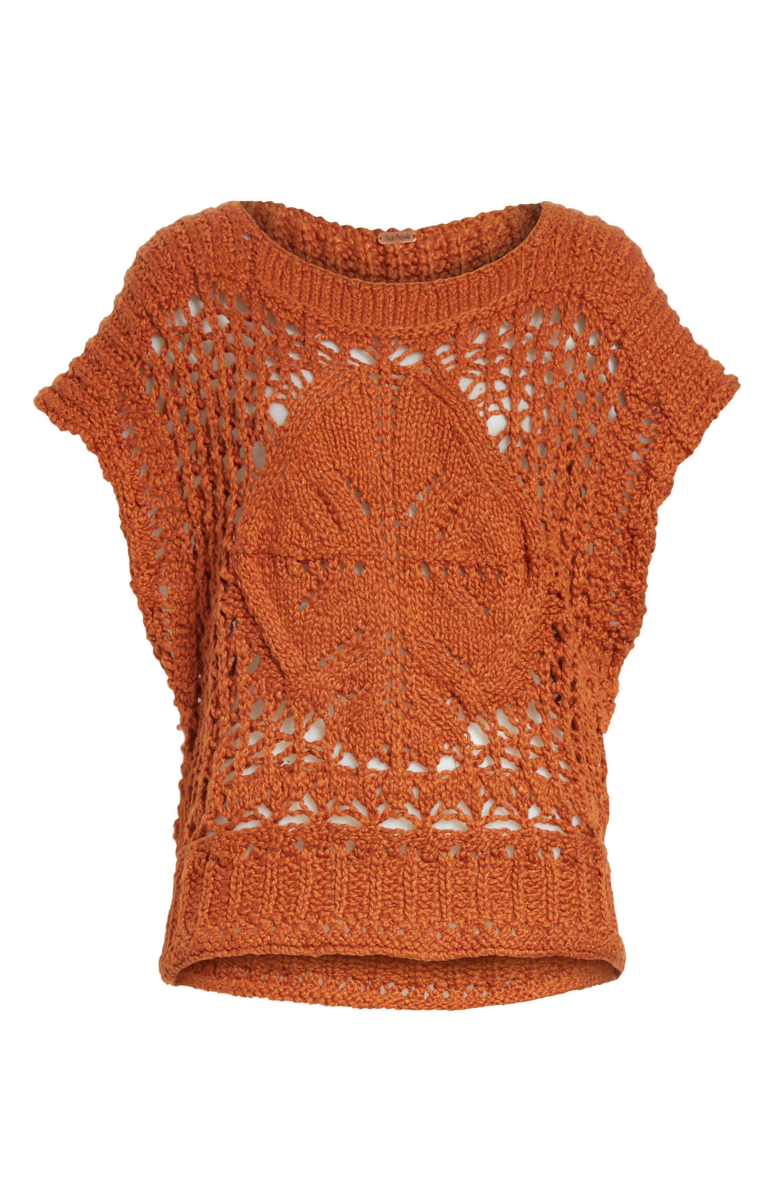 Diamond in the Rough Sweater,                             Alternate thumbnail 6, color,                             Terracotta
