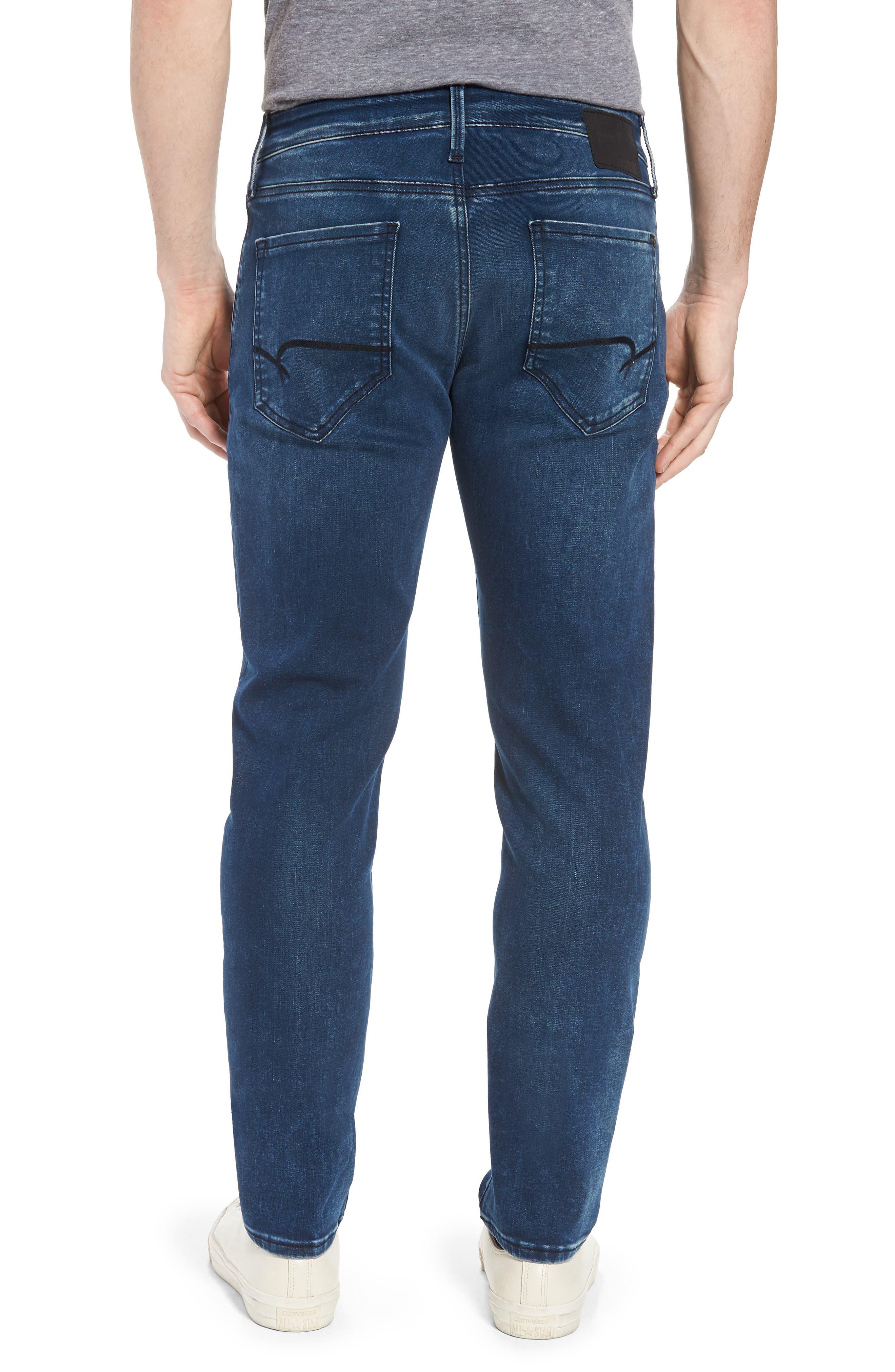 Marcus Slim Straight Leg Jeans,                             Alternate thumbnail 2, color,                             Forest Blue Williamsburg