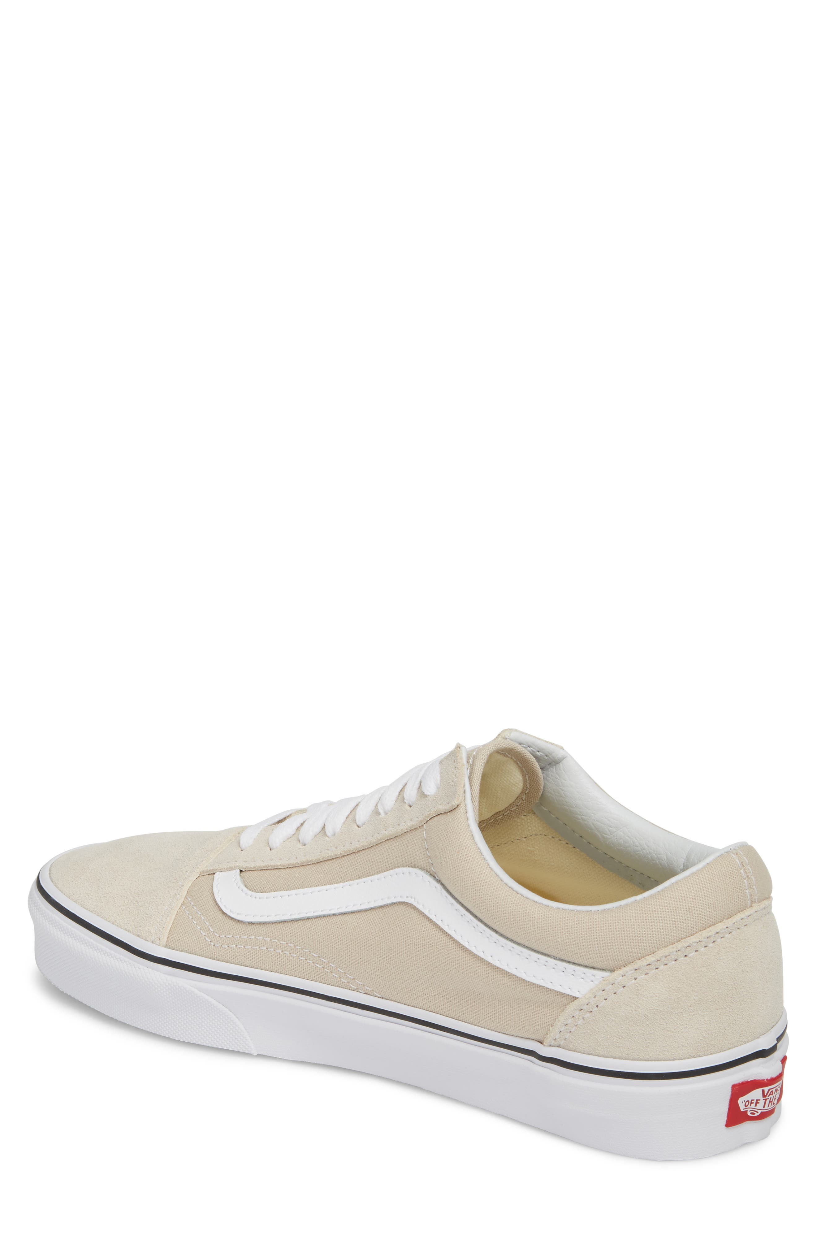 Old Skool Low Top Sneaker,                             Alternate thumbnail 2, color,                             Silver Lining/ White Leather