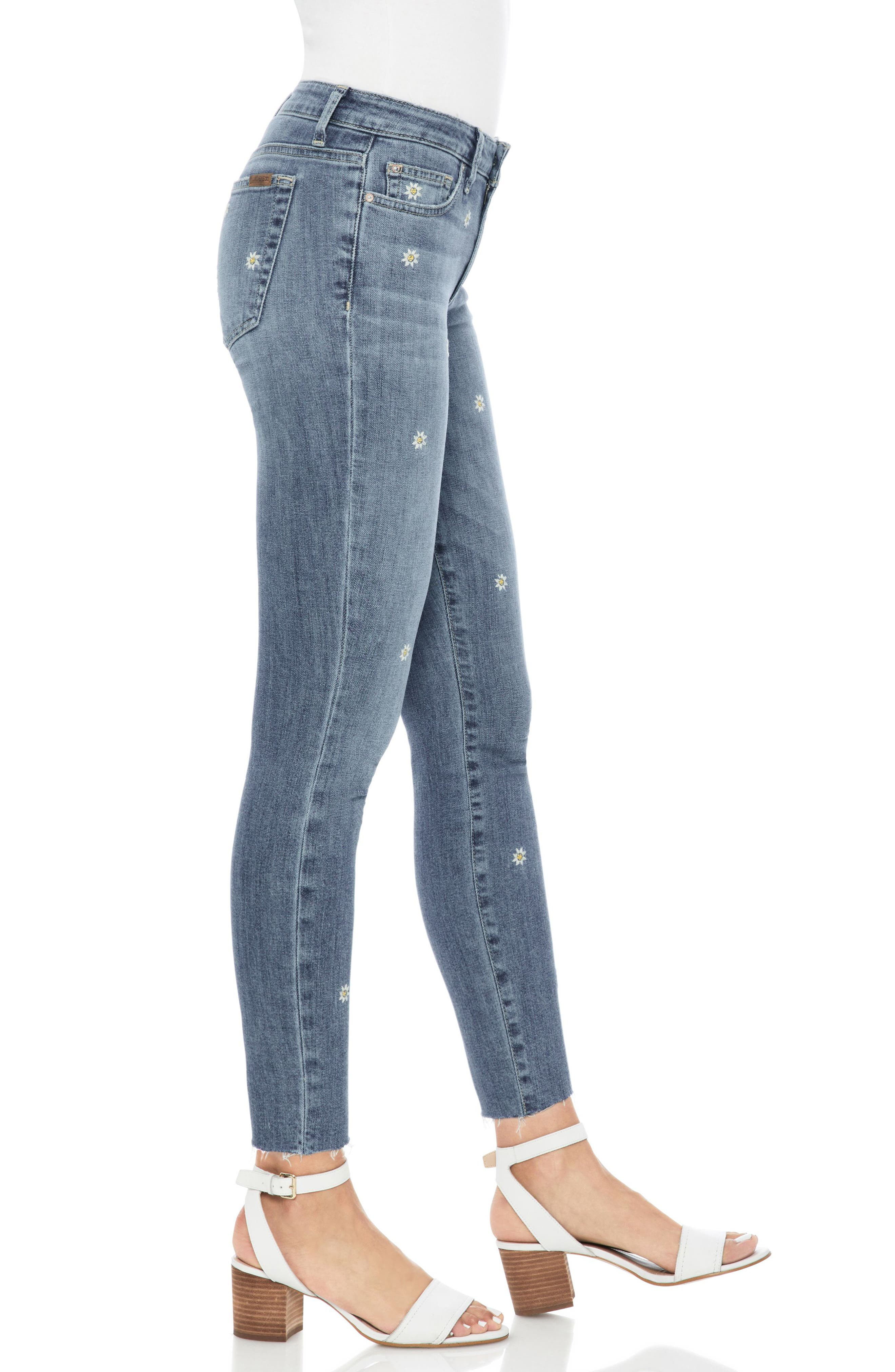 Icon Crop Skinny Jeans,                             Alternate thumbnail 3, color,                             Priscilla