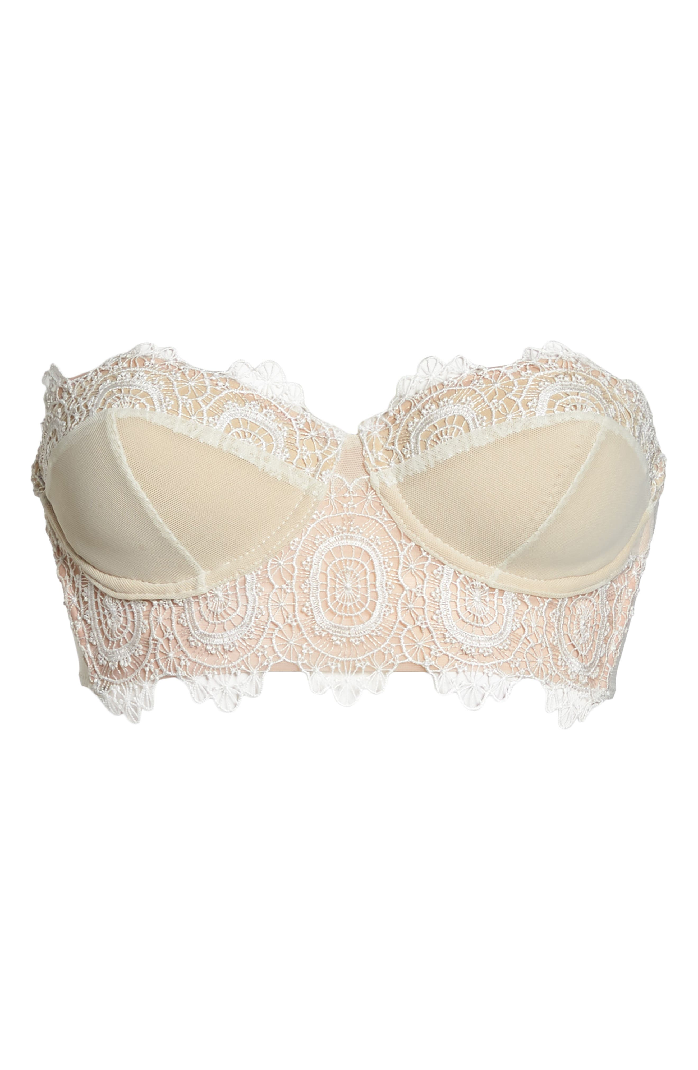 Thistle & Spire Willow Underwire Convertible Bustier Bra,                             Alternate thumbnail 10, color,                             Ivory
