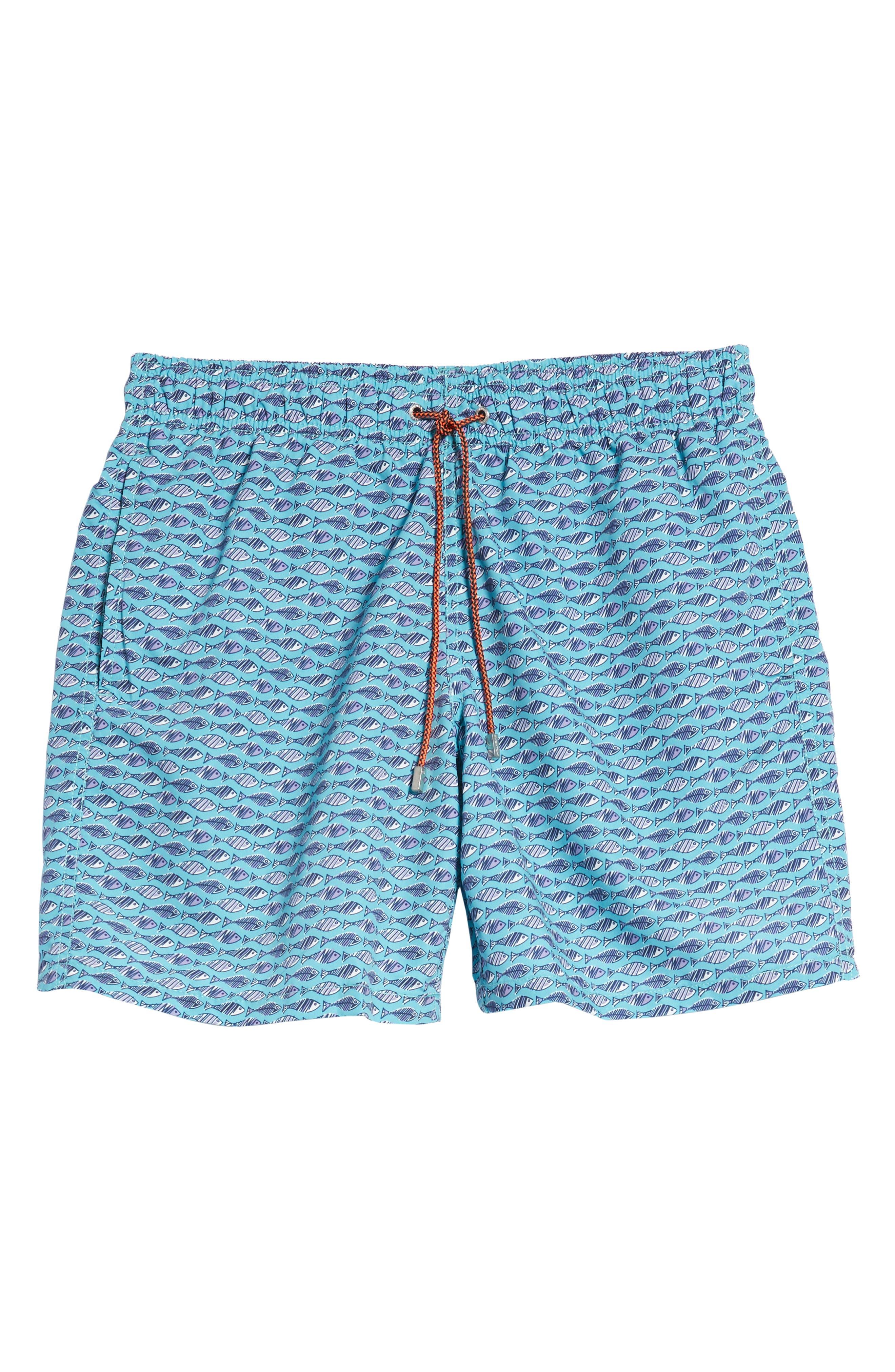 Swim Trunks,                             Alternate thumbnail 6, color,                             Turquoise