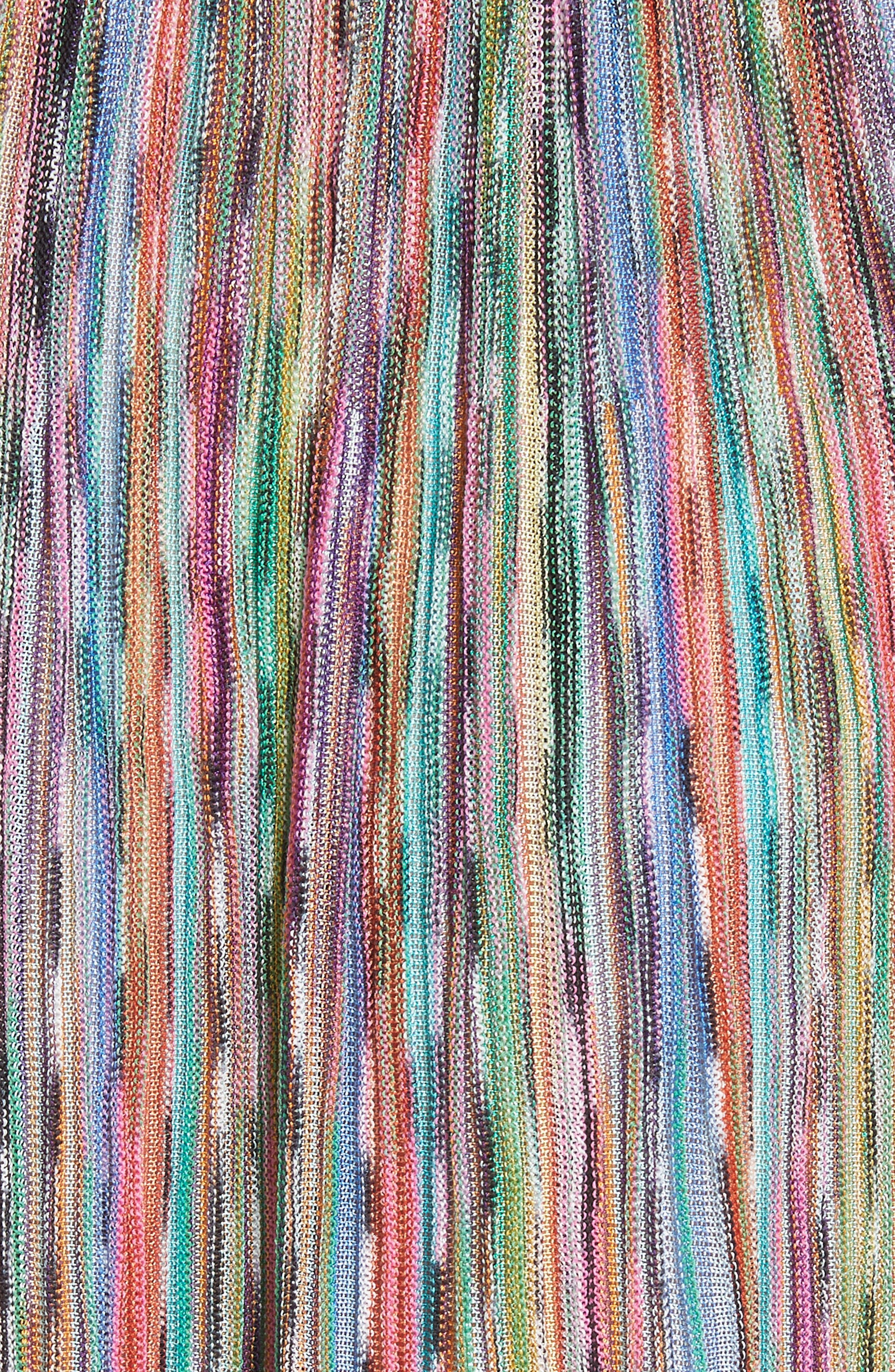Alternate Image 5  - Missoni Surplice Neck Stripe Midi Dress