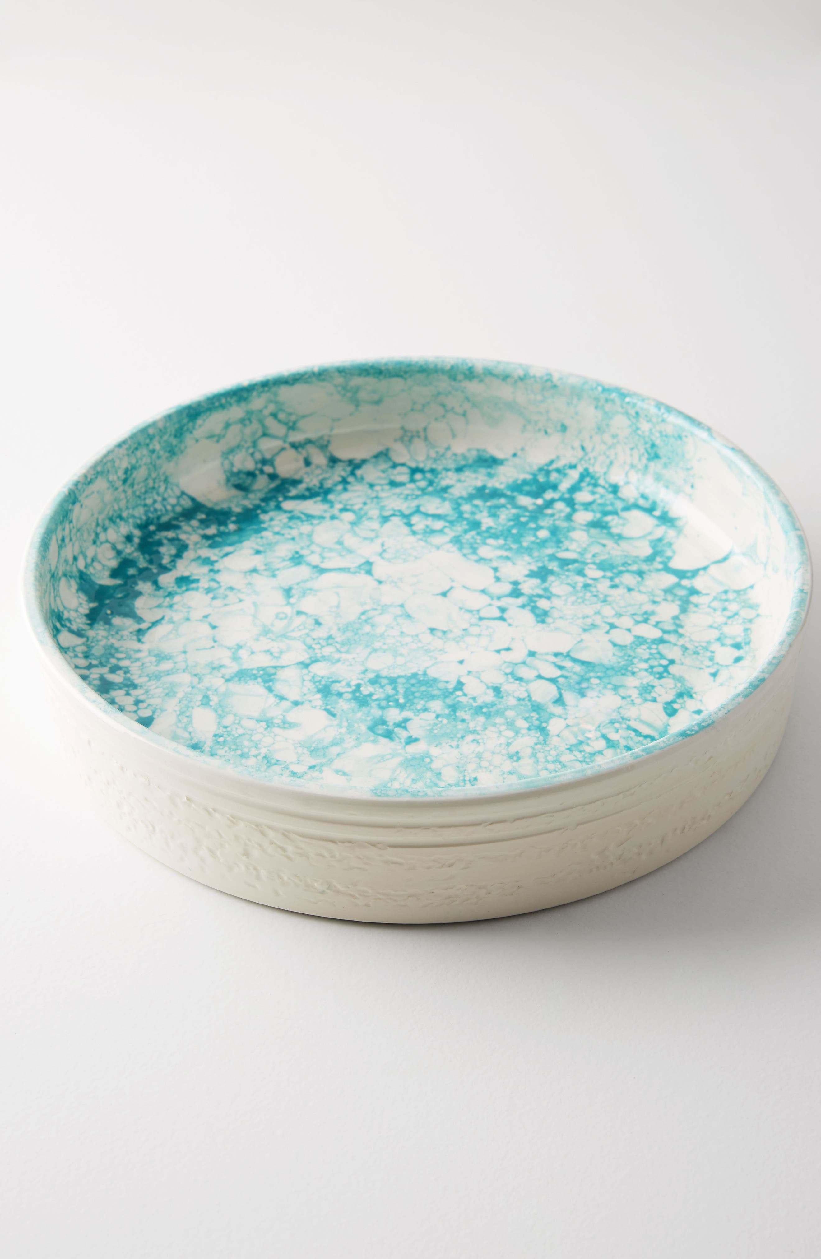 Glenna Pie Dish,                             Alternate thumbnail 4, color,                             Turquoise