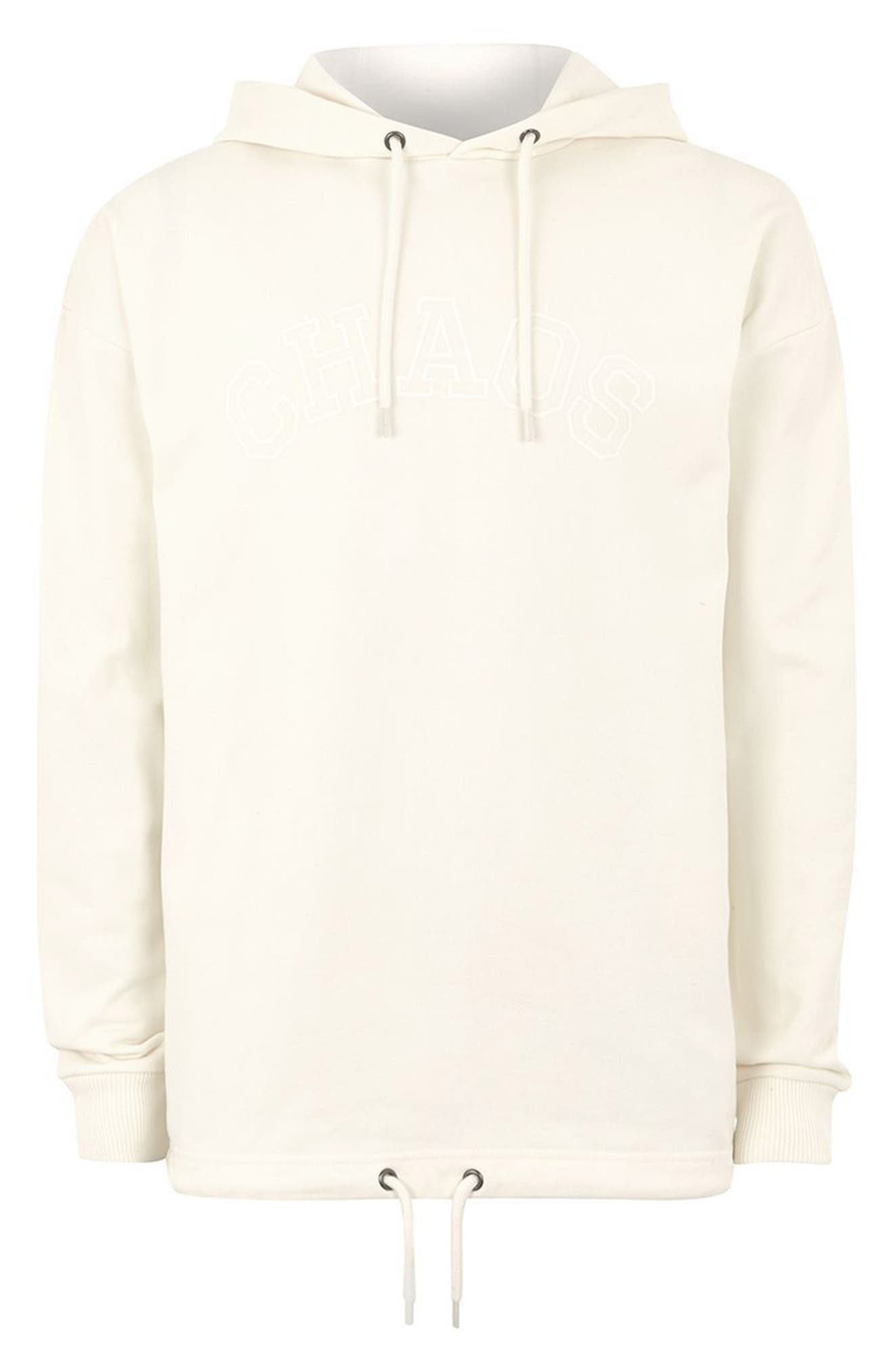 Oversize Hoodie,                             Alternate thumbnail 4, color,                             Ivory