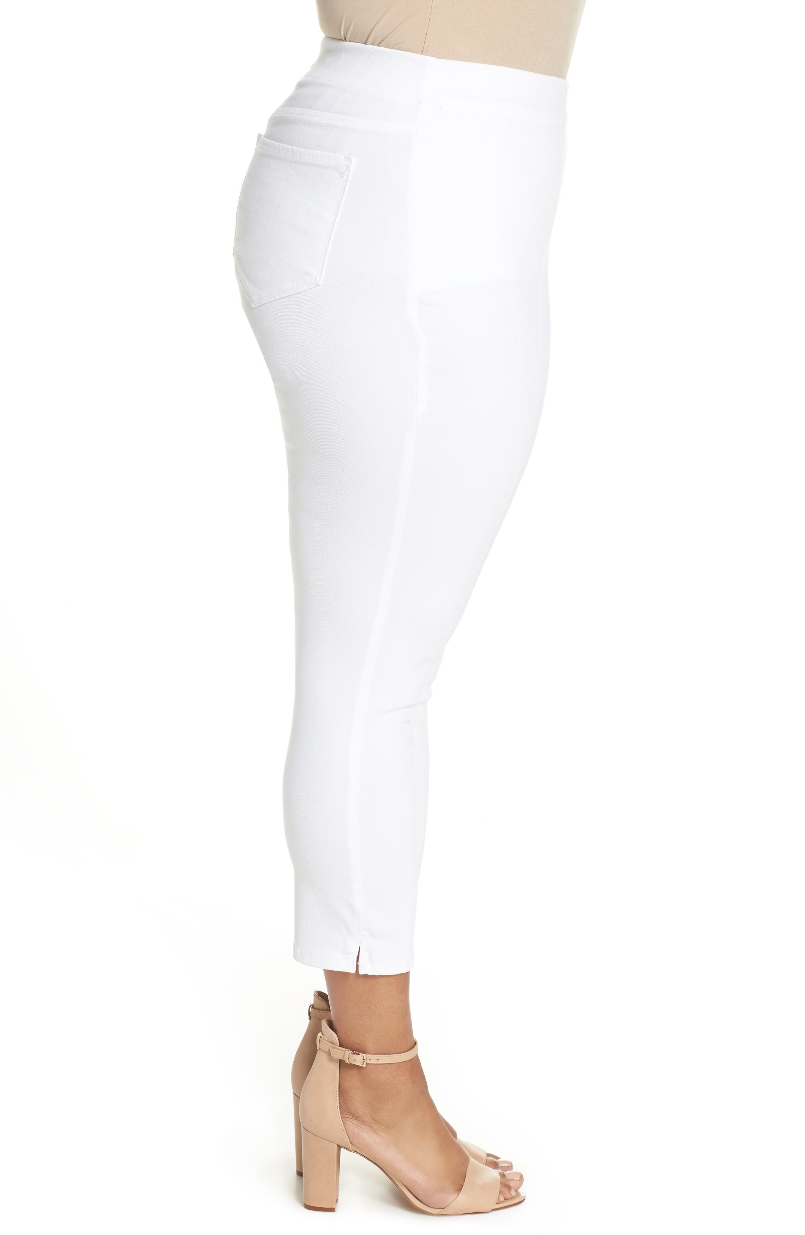 Alternate Image 3  - NYDJ Alina Pull-On Ankle Skinny Jeans (Endless White) (Plus Size)