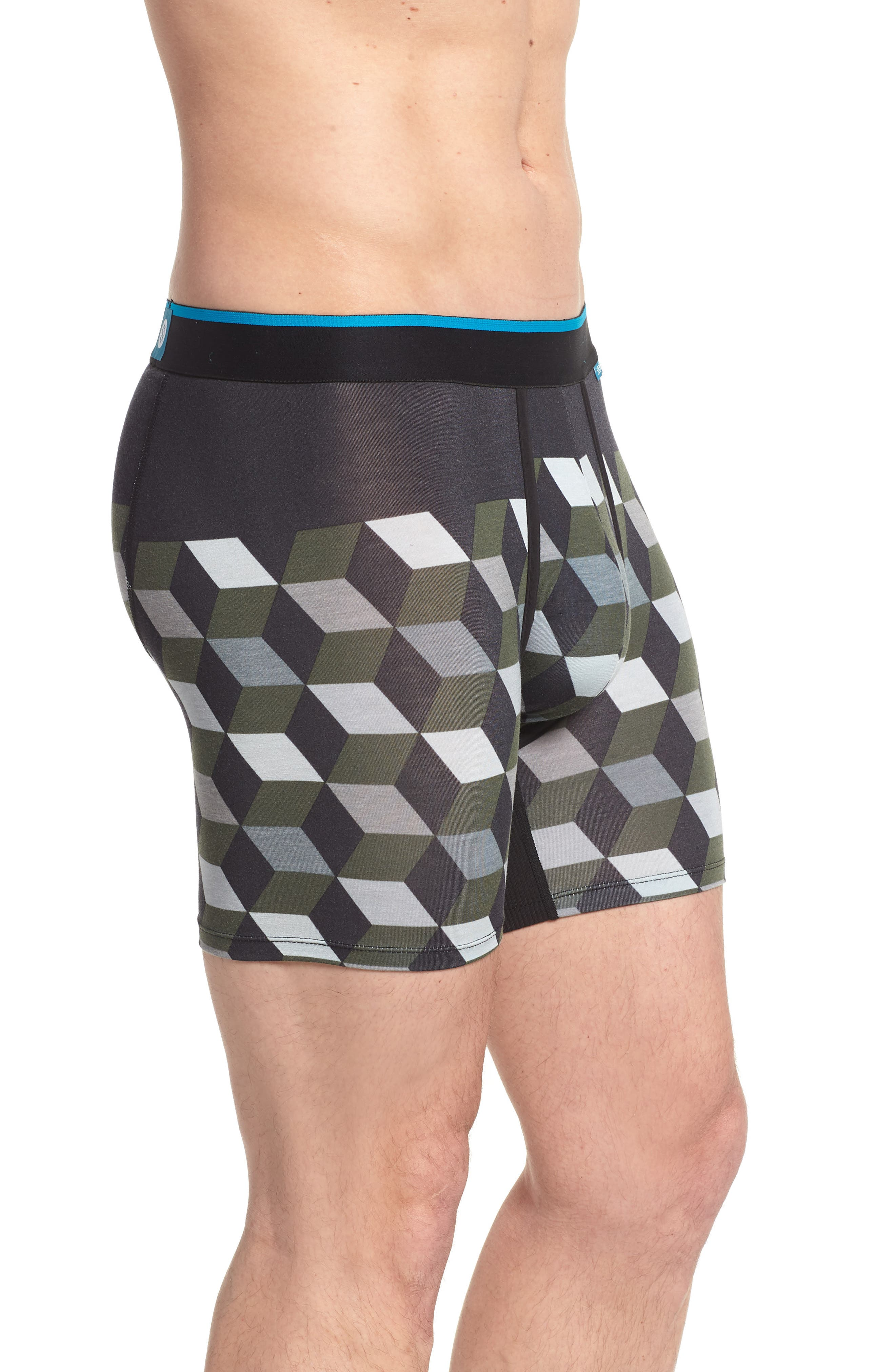 Cubes Wholester Boxer Briefs,                             Alternate thumbnail 3, color,                             Grey
