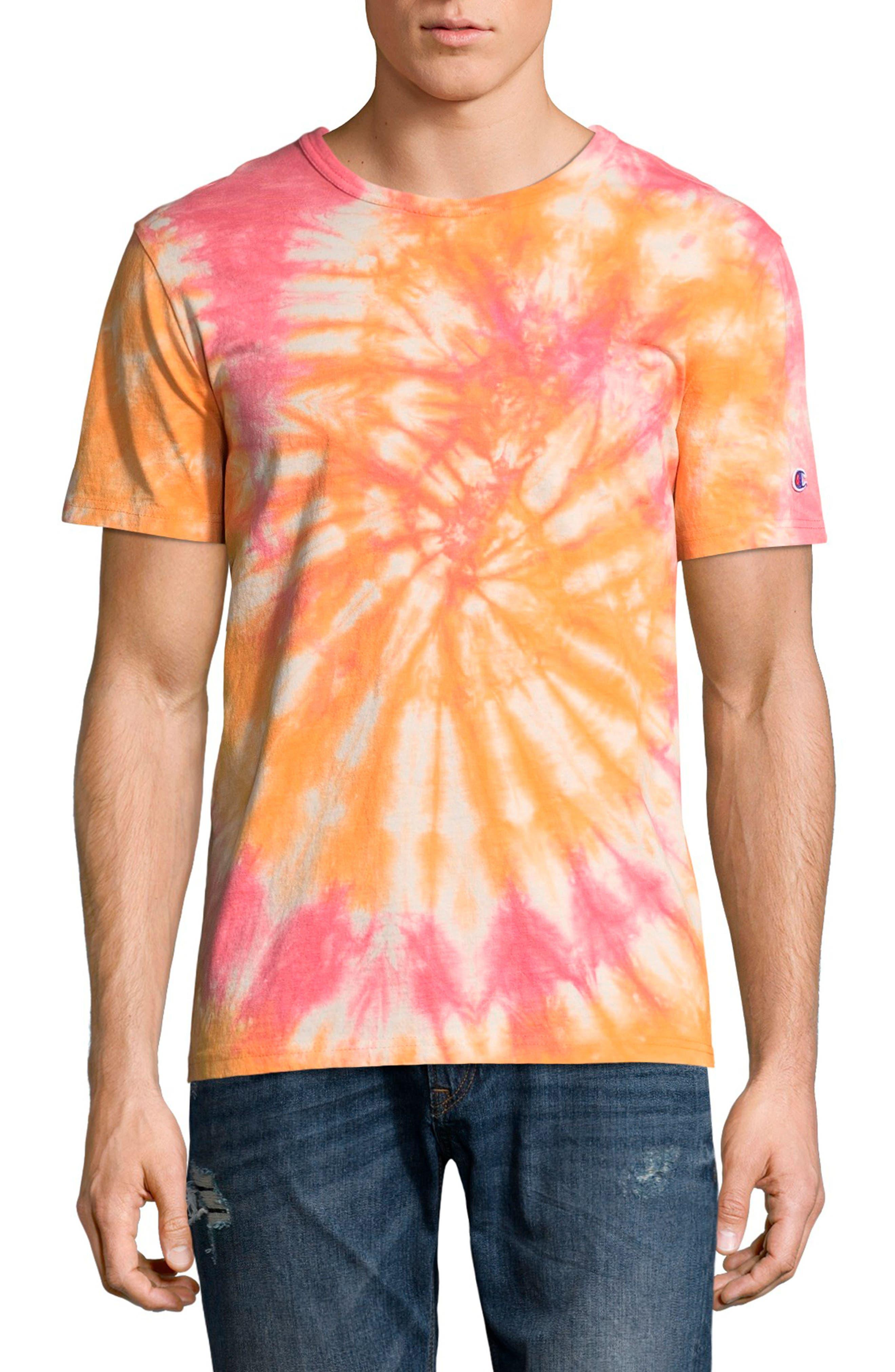 Tie Dye Jersey T-Shirt,                             Main thumbnail 1, color,                             Glazed Orange