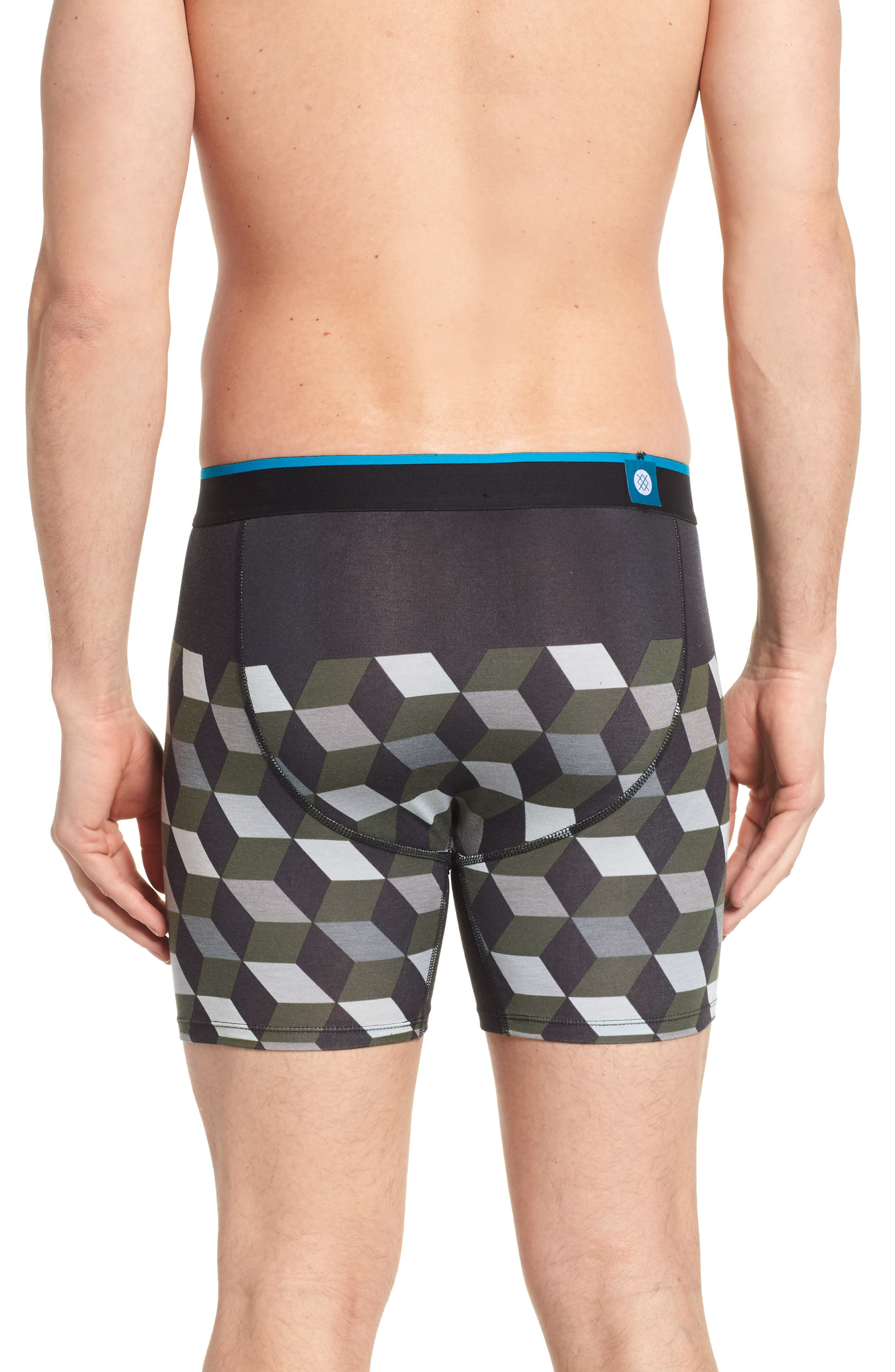 Cubes Wholester Boxer Briefs,                             Alternate thumbnail 2, color,                             Grey