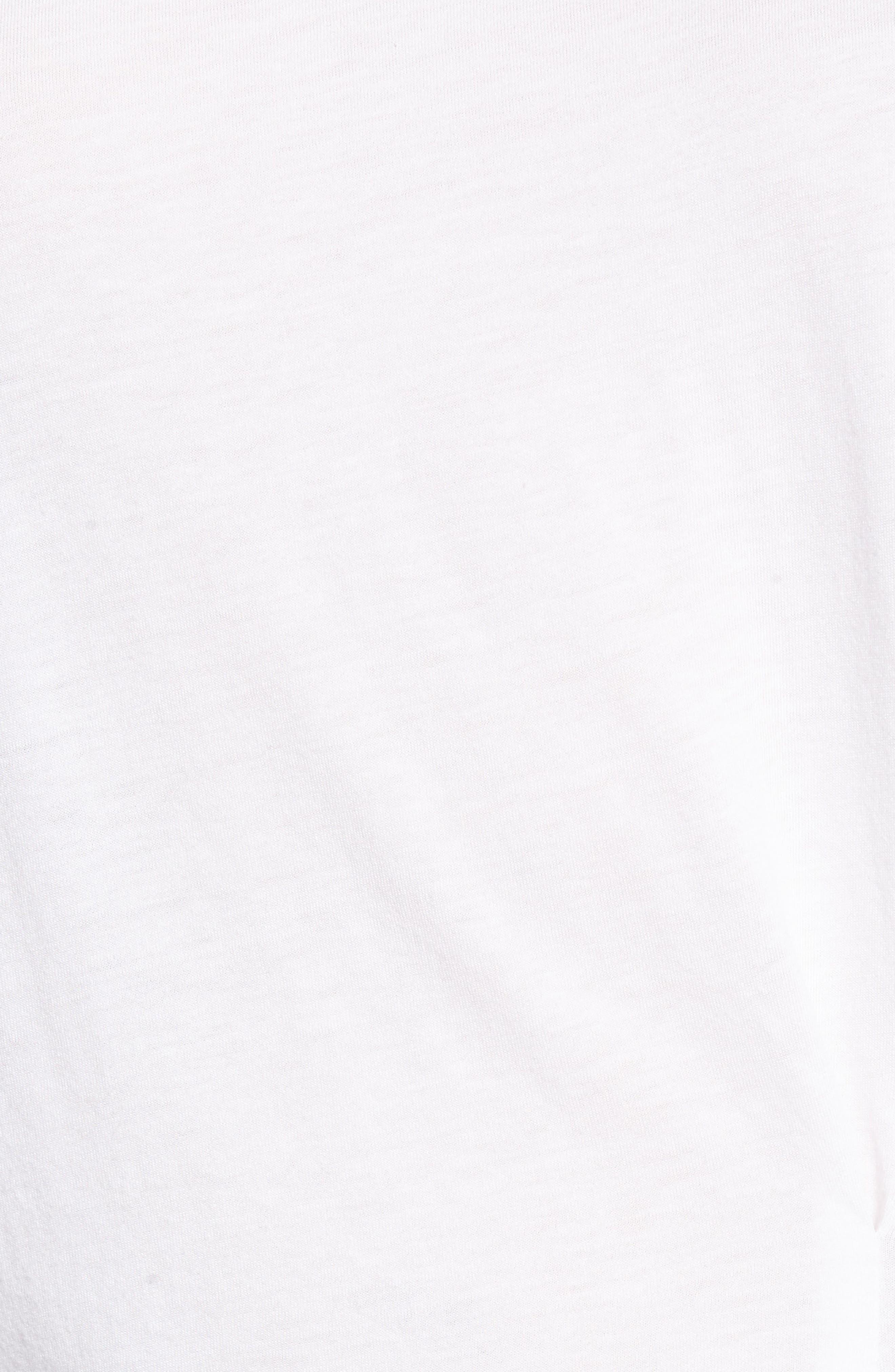 Asymmetrical Hem Pleat Tank Top,                             Alternate thumbnail 6, color,                             White