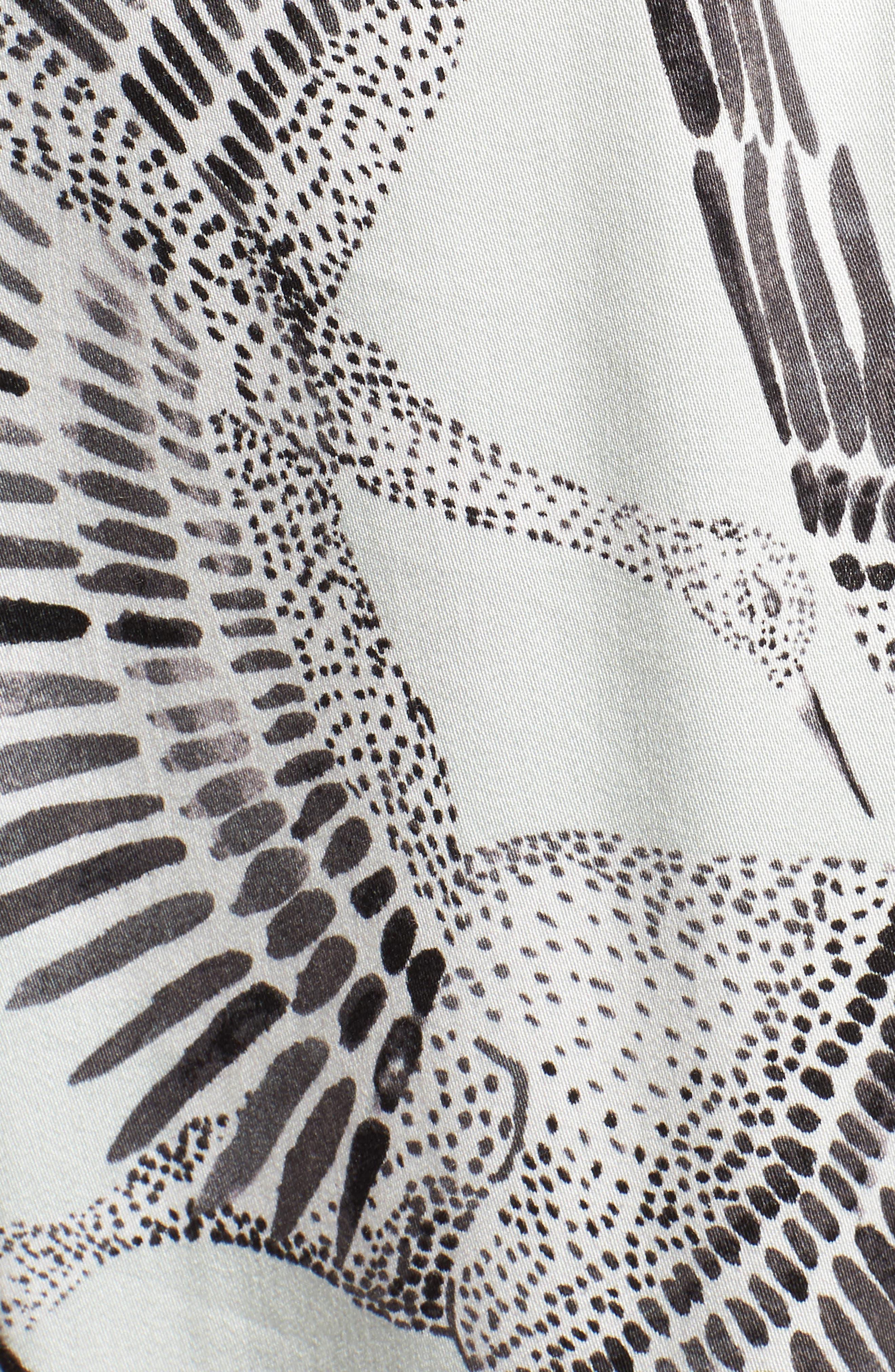 Taking Flight Midi Dress,                             Alternate thumbnail 6, color,                             Multi Grey