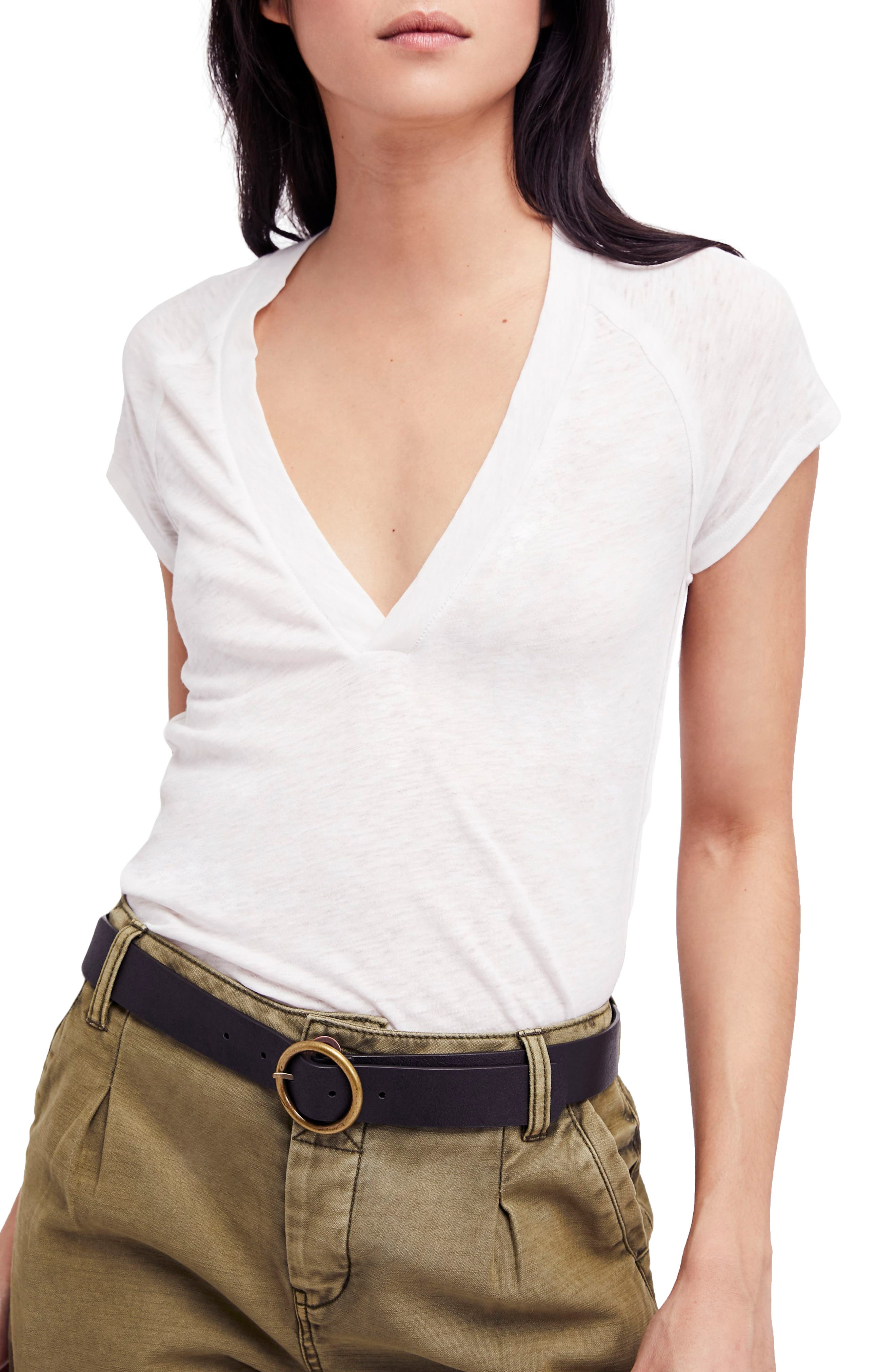 Clementine Tee,                             Main thumbnail 1, color,                             White