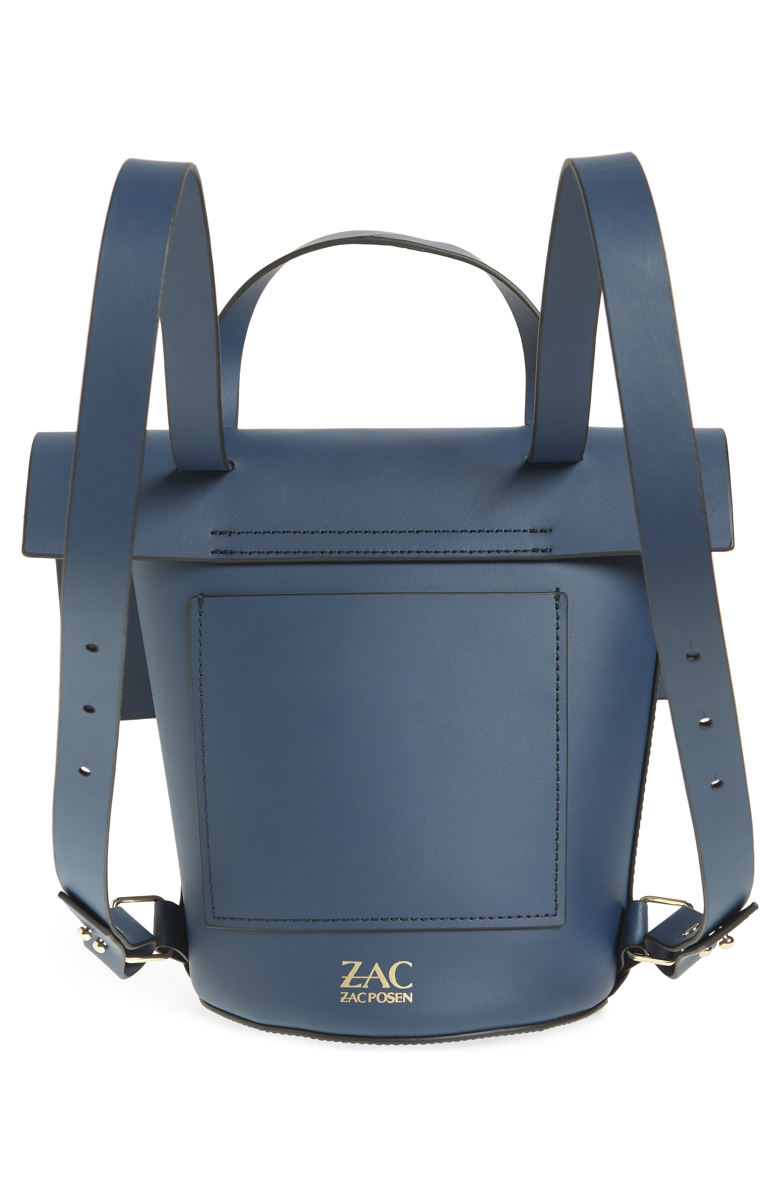 Belay Calfskin Leather Backpack,                             Alternate thumbnail 6, color,                             Blue