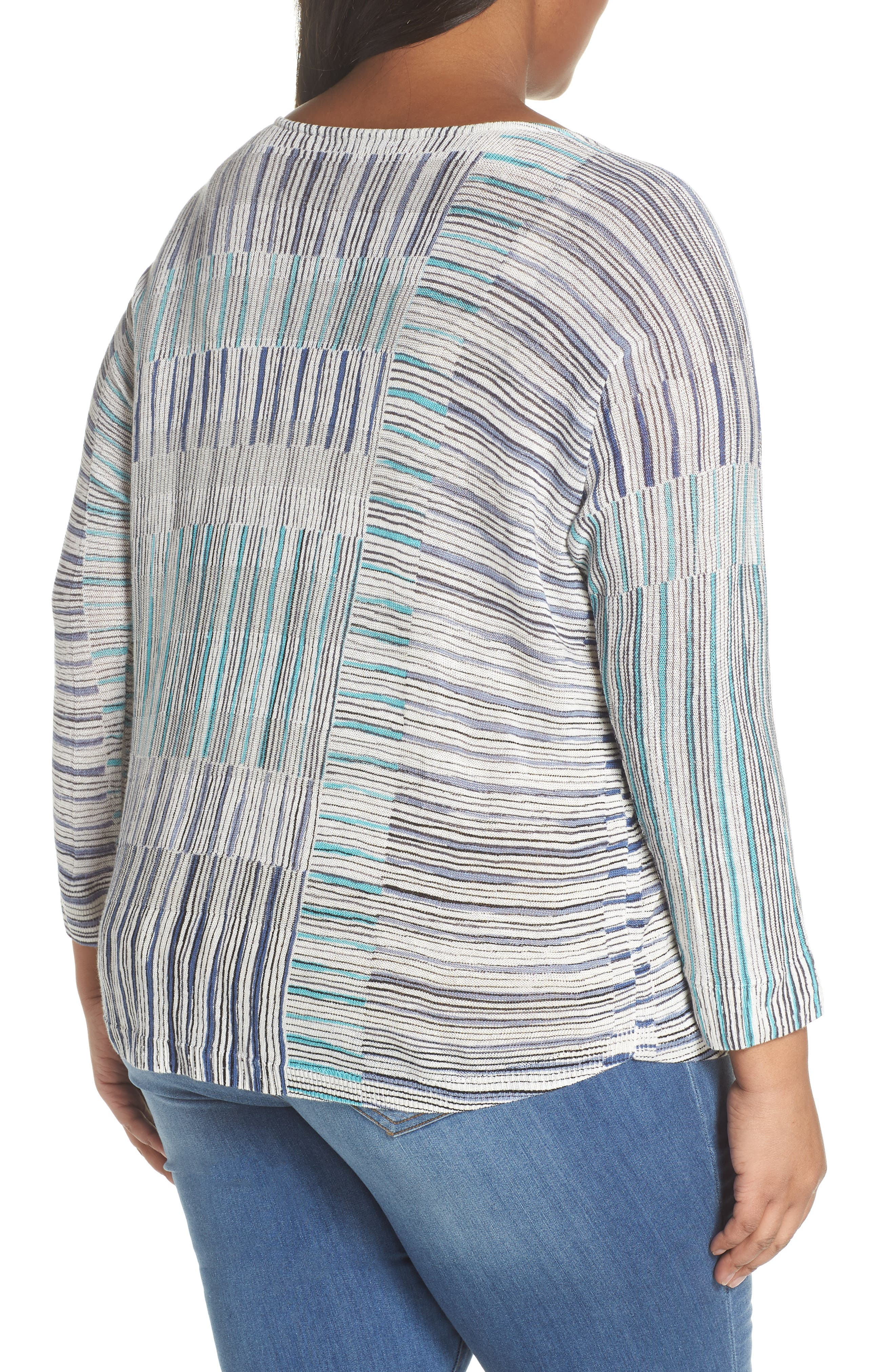 Sea Wall Stripe Scoop Neck Top,                             Alternate thumbnail 2, color,                             Multi