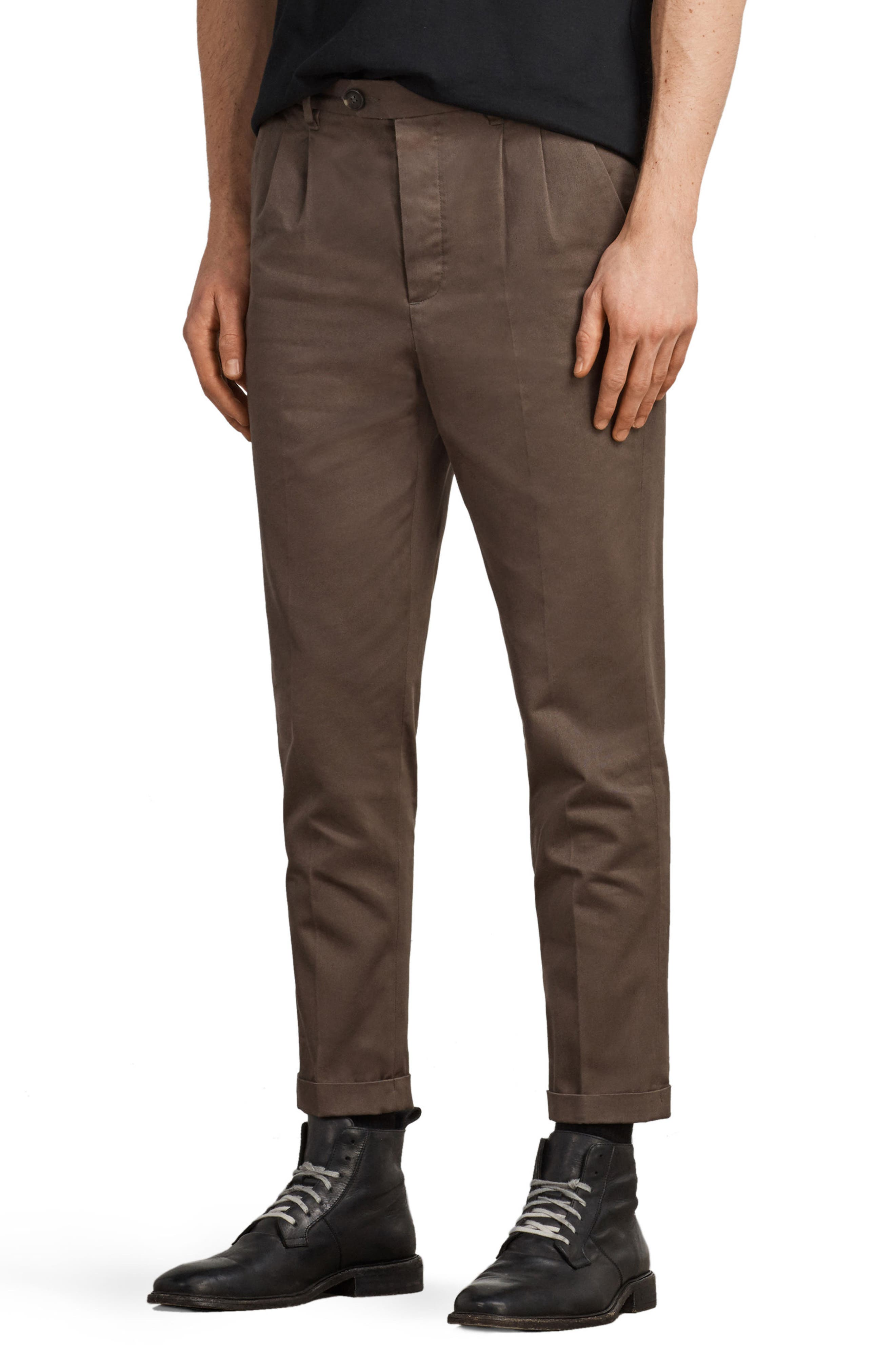 Salco Slim Fit Chino Pants,                             Alternate thumbnail 3, color,                             Khaki Green