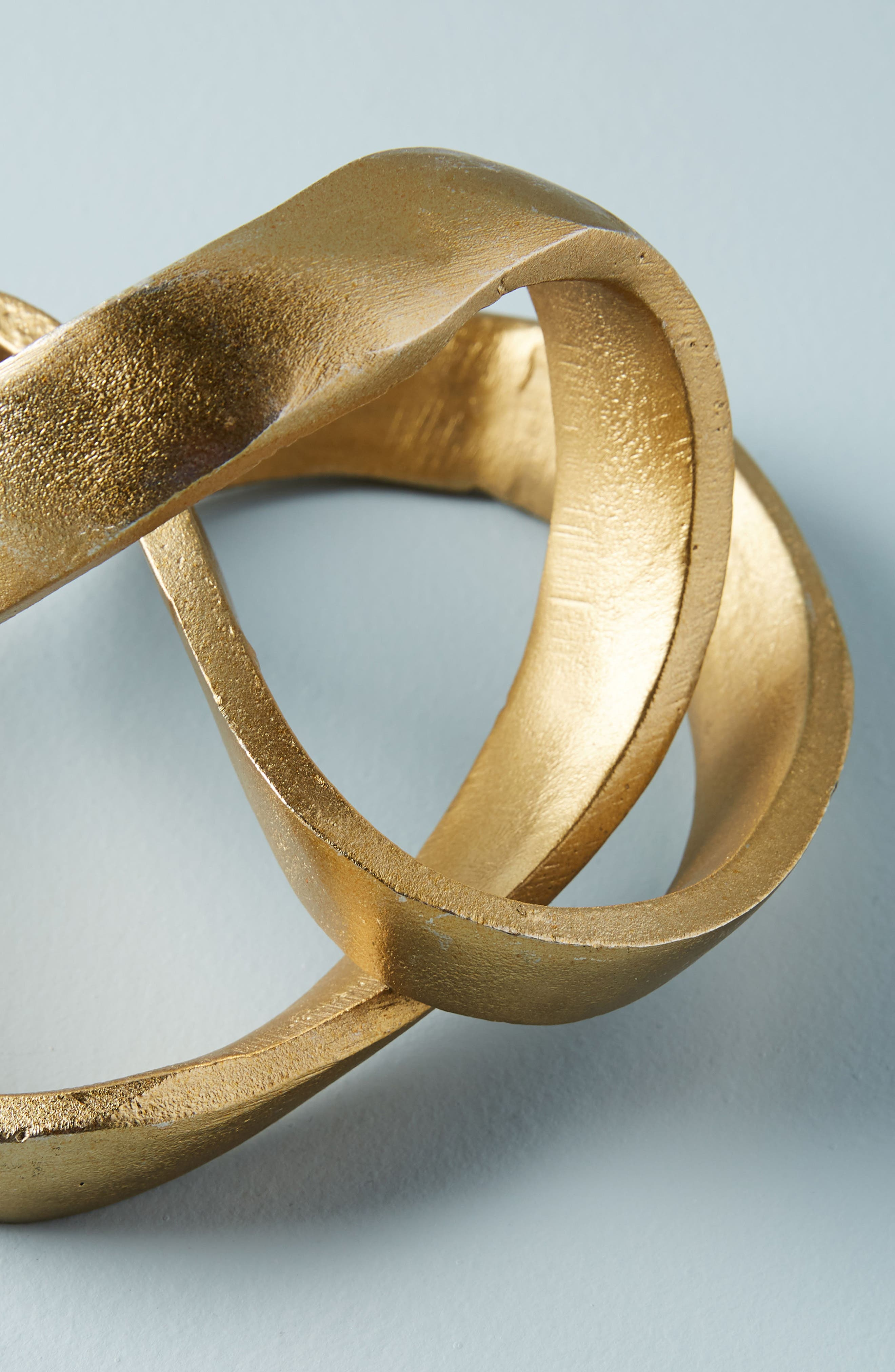 Knotted Decorative Object,                             Alternate thumbnail 2, color,                             Gold