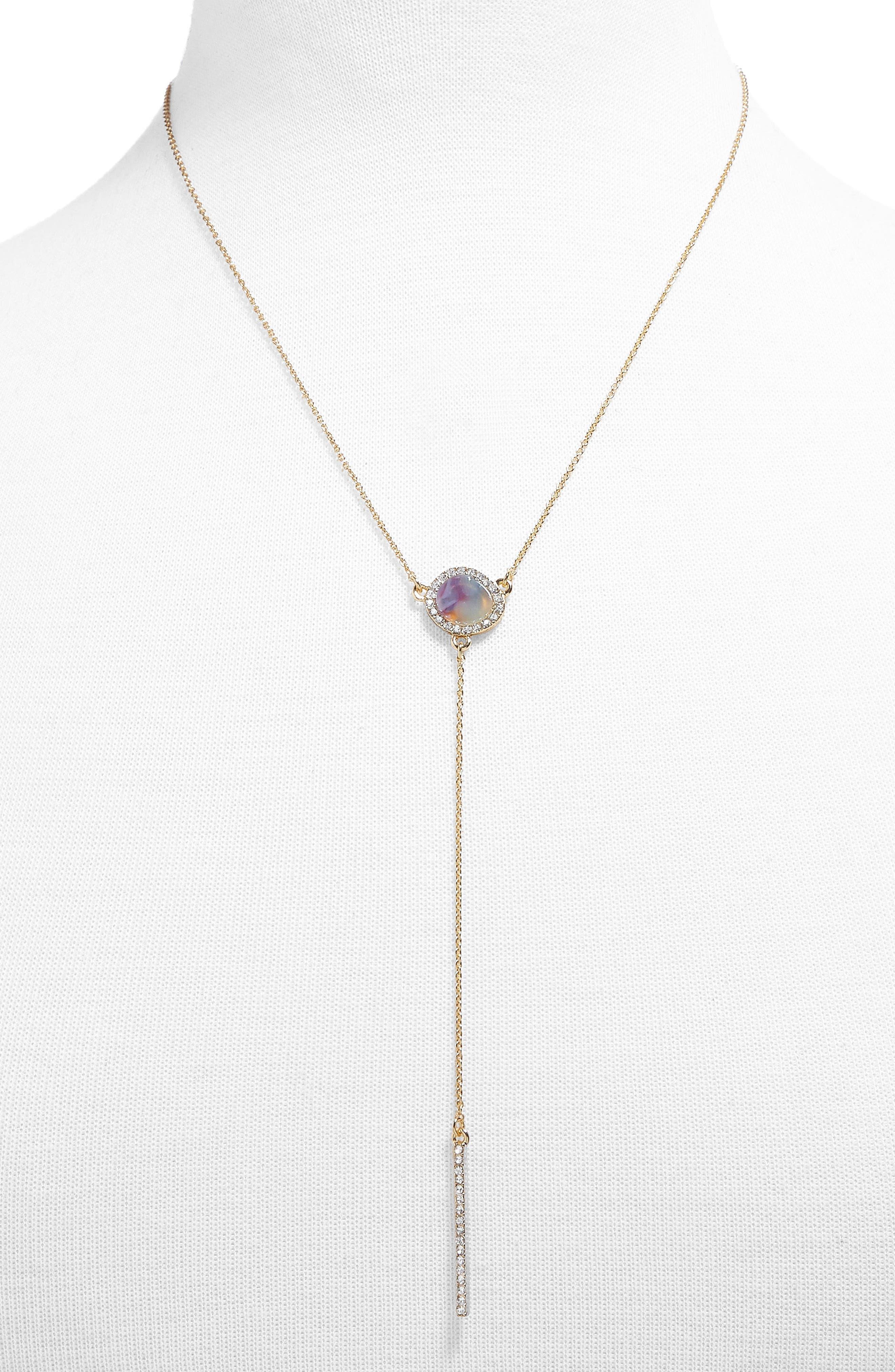 Elsha Chain Y-Necklace,                             Main thumbnail 1, color,                             Blush