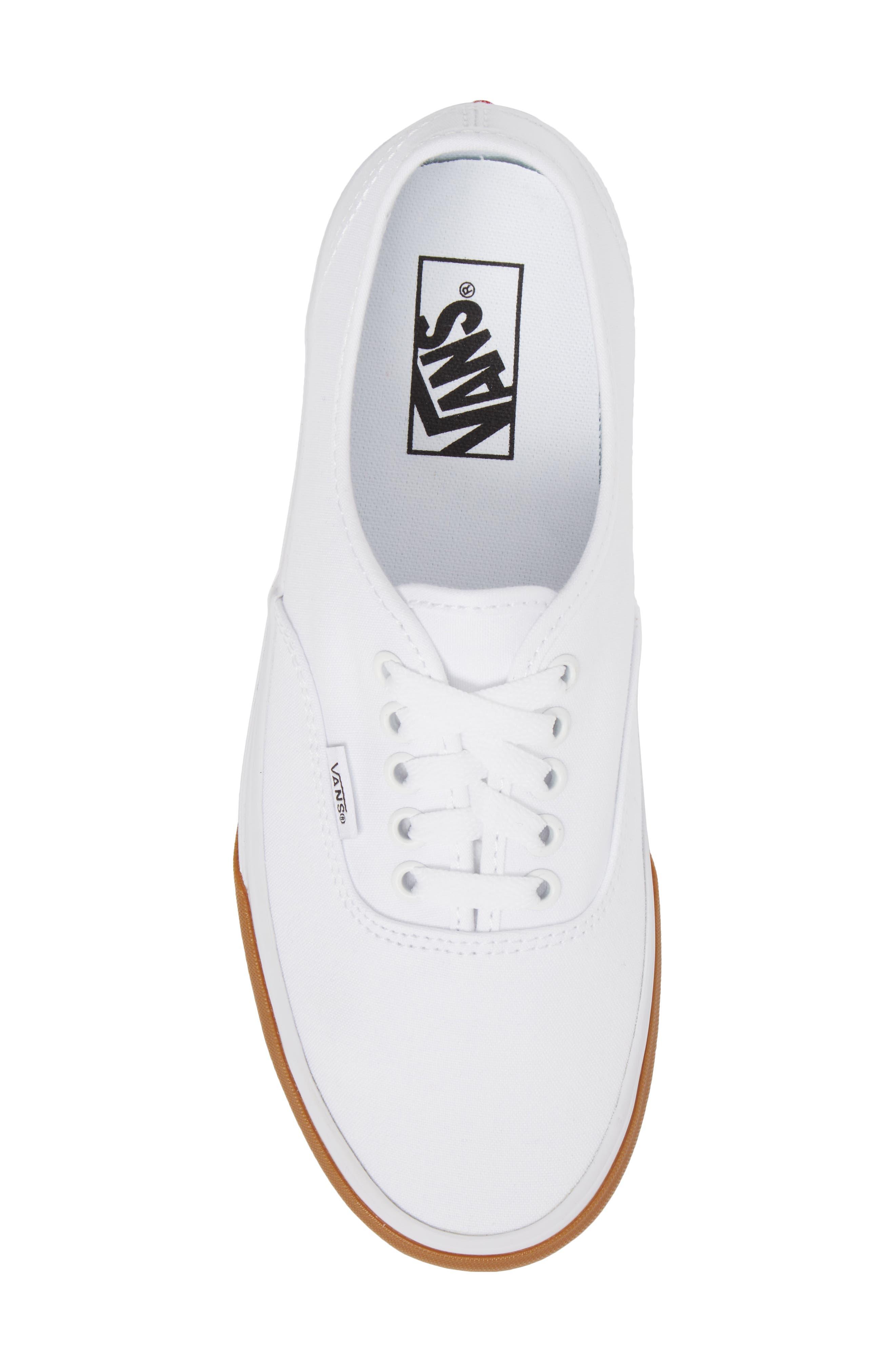 Authentic Gum Bumper Sneaker,                             Alternate thumbnail 5, color,                             True White/ True White