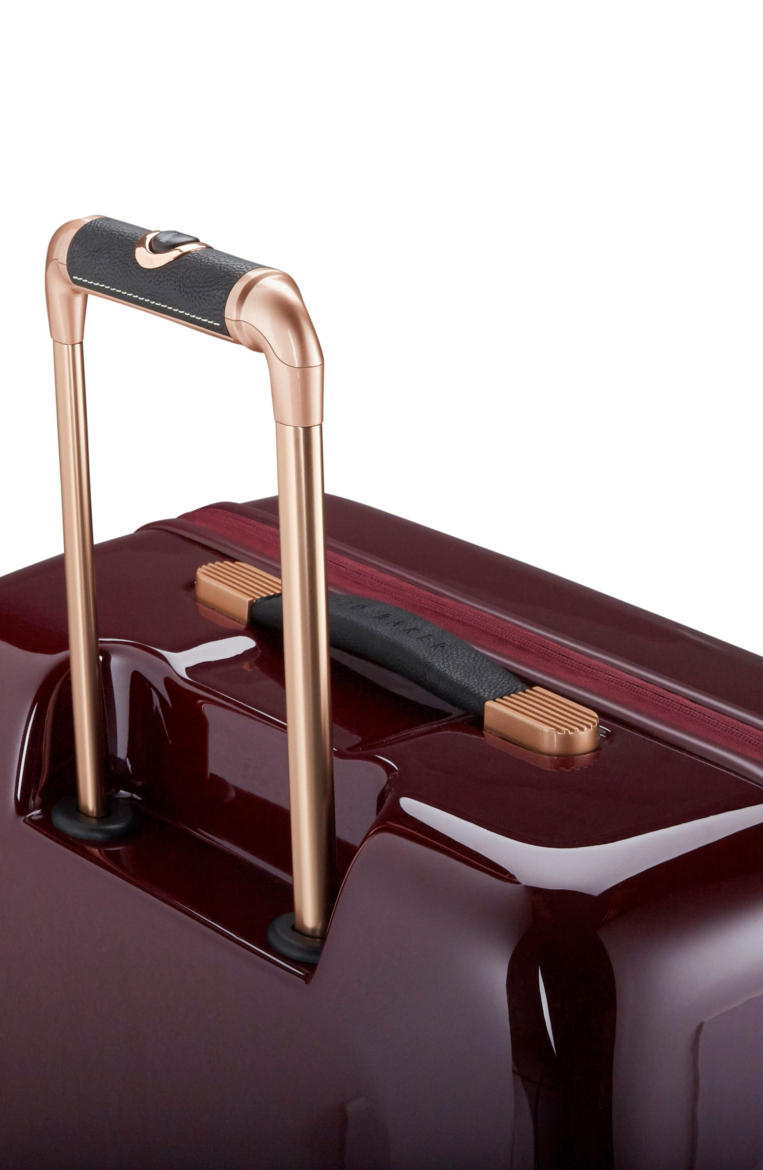 Large Porcelain Rose 31-Inch Hard Shell Spinner Suitcase,                             Alternate thumbnail 5, color,                             Burgundy