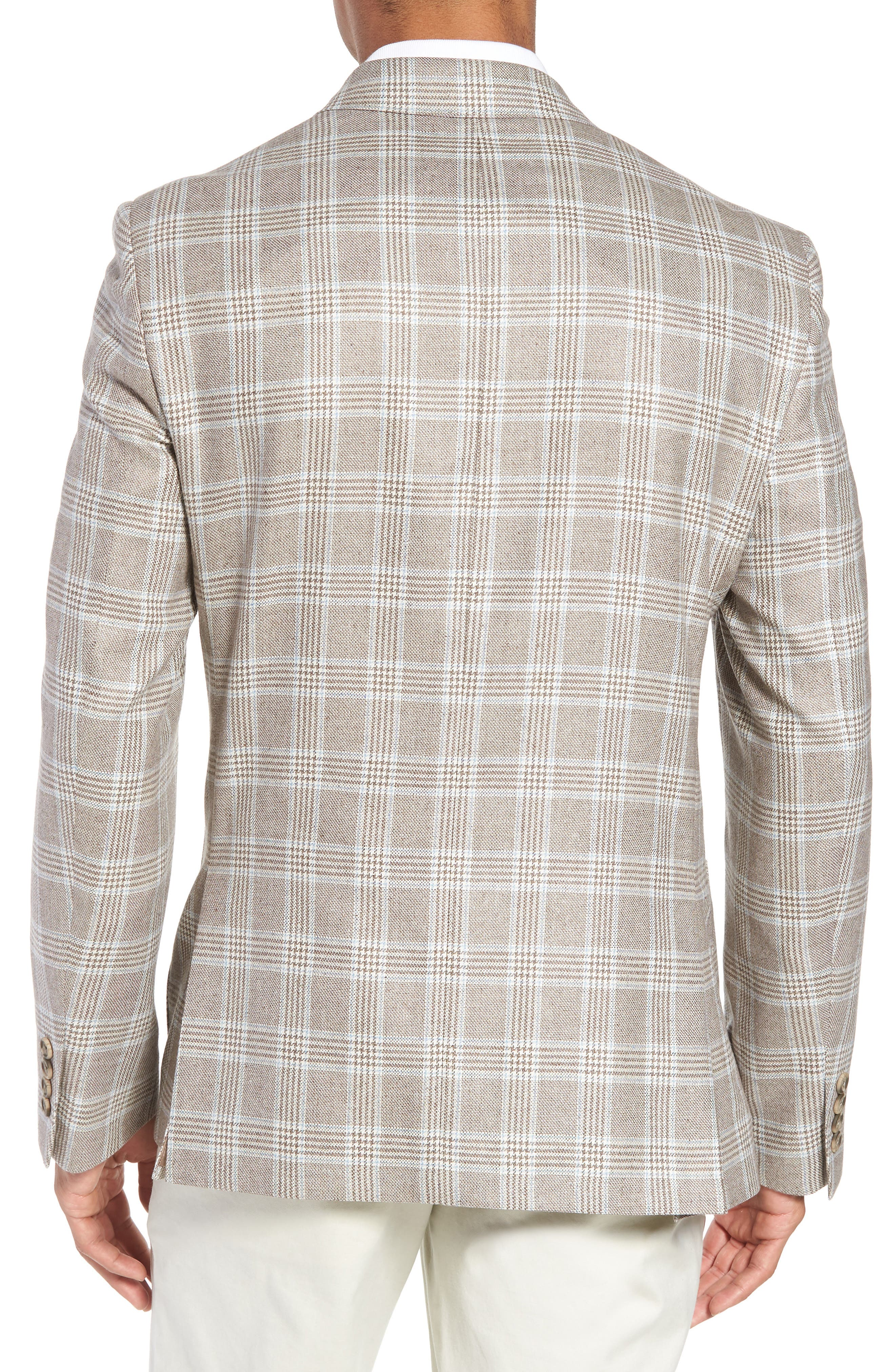 Alternate Image 2  - Nordstrom Men's Shop Trim Fit Plaid Silk & Wool Sport Coat
