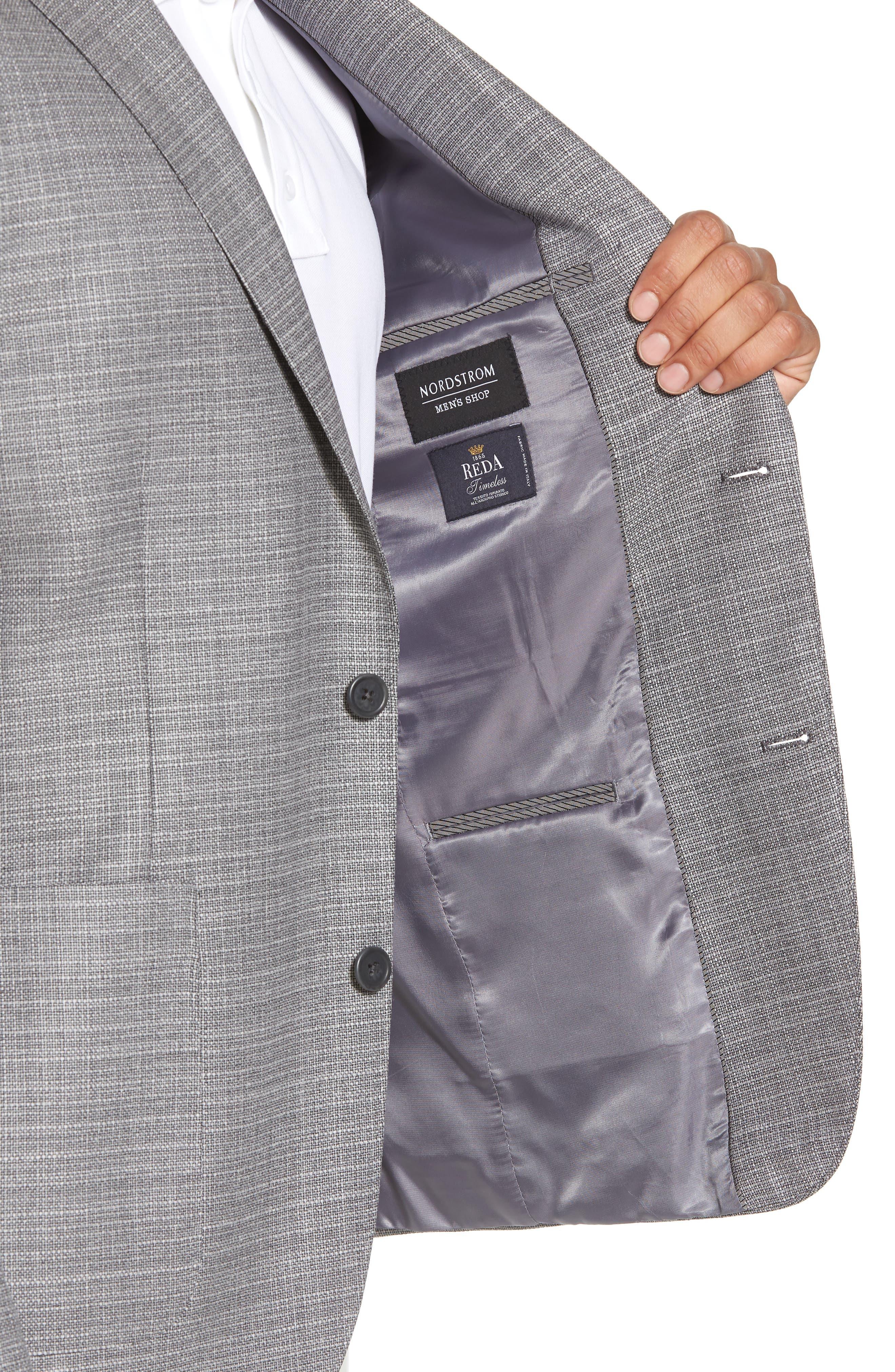Trim Fit Wool Blazer,                             Alternate thumbnail 4, color,                             Silver