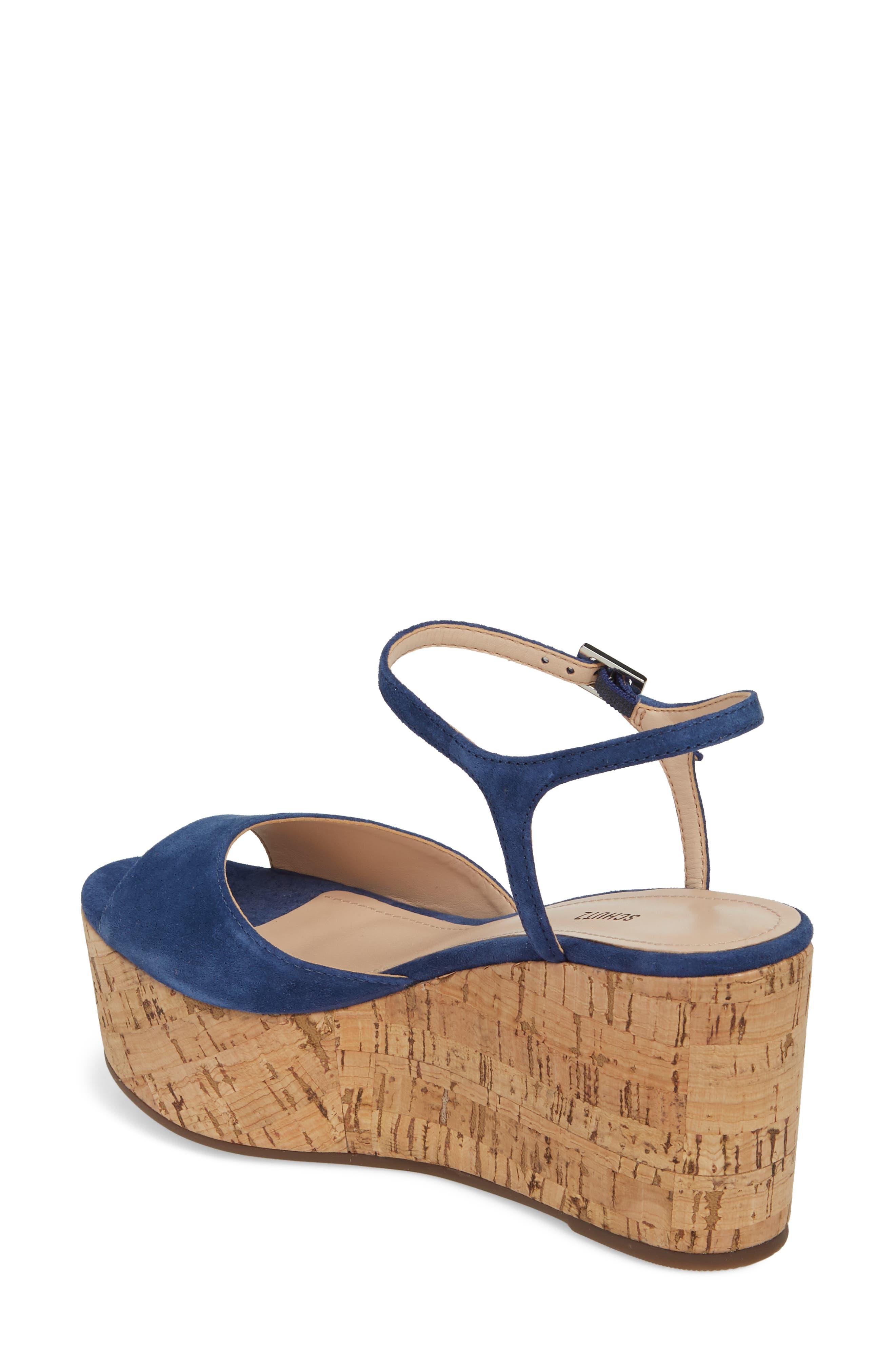 Heloise Platform Wedge Sandal,                             Alternate thumbnail 2, color,                             Dress Blue