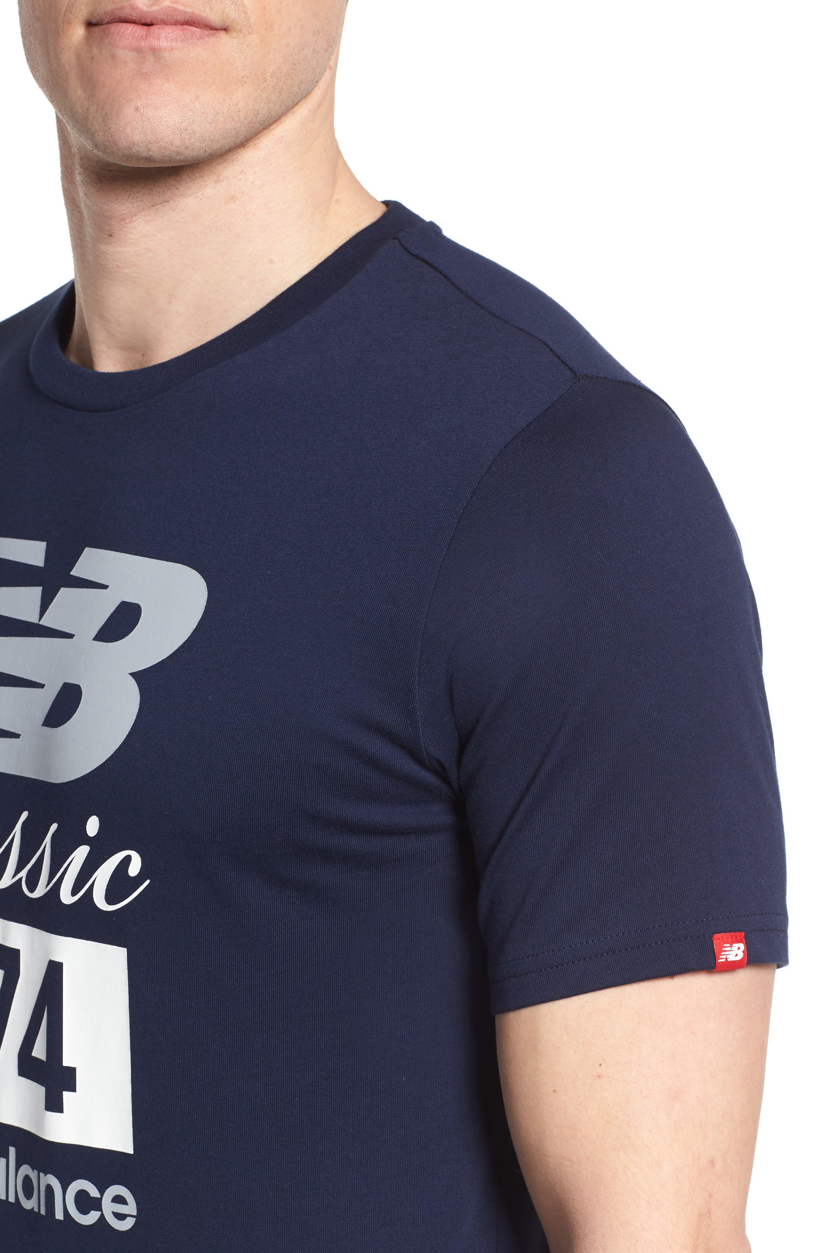 Athletics Classic 574 Crewneck T-Shirt,                             Alternate thumbnail 4, color,                             Pigment